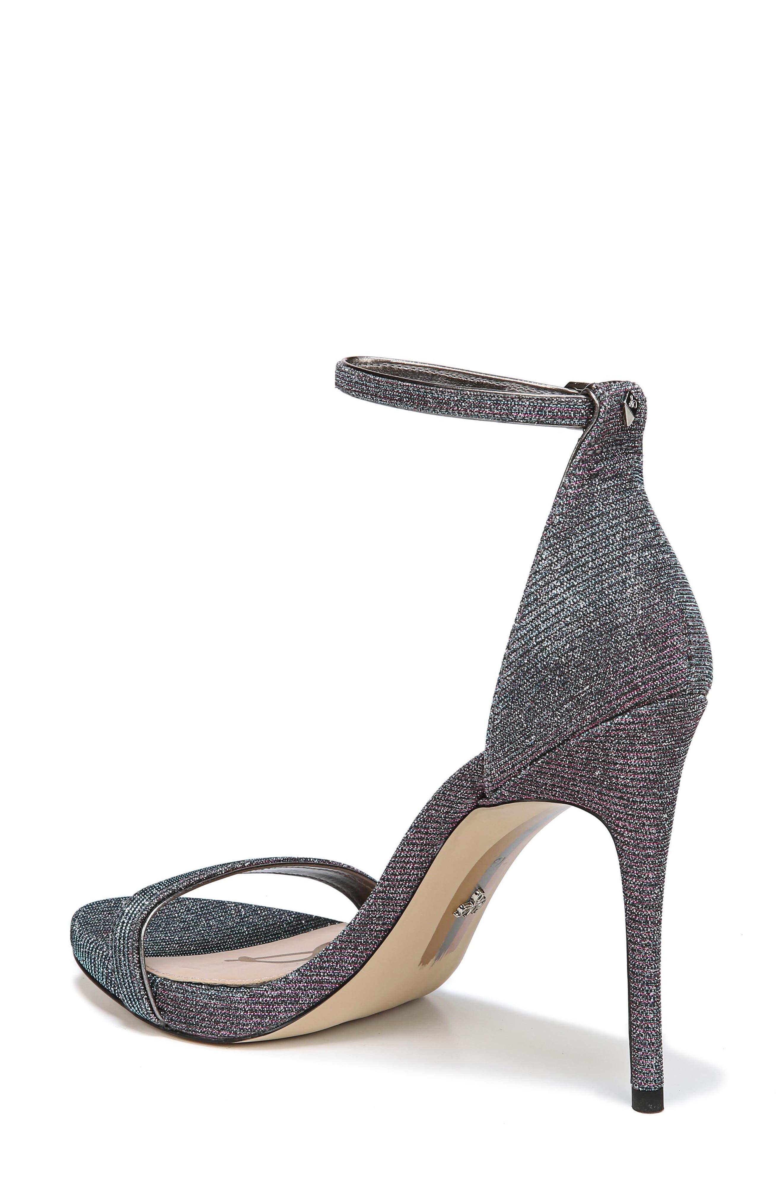 Ariella Ankle Strap Sandal,                             Alternate thumbnail 2, color,                             Pink/ Blue Multi Fabric