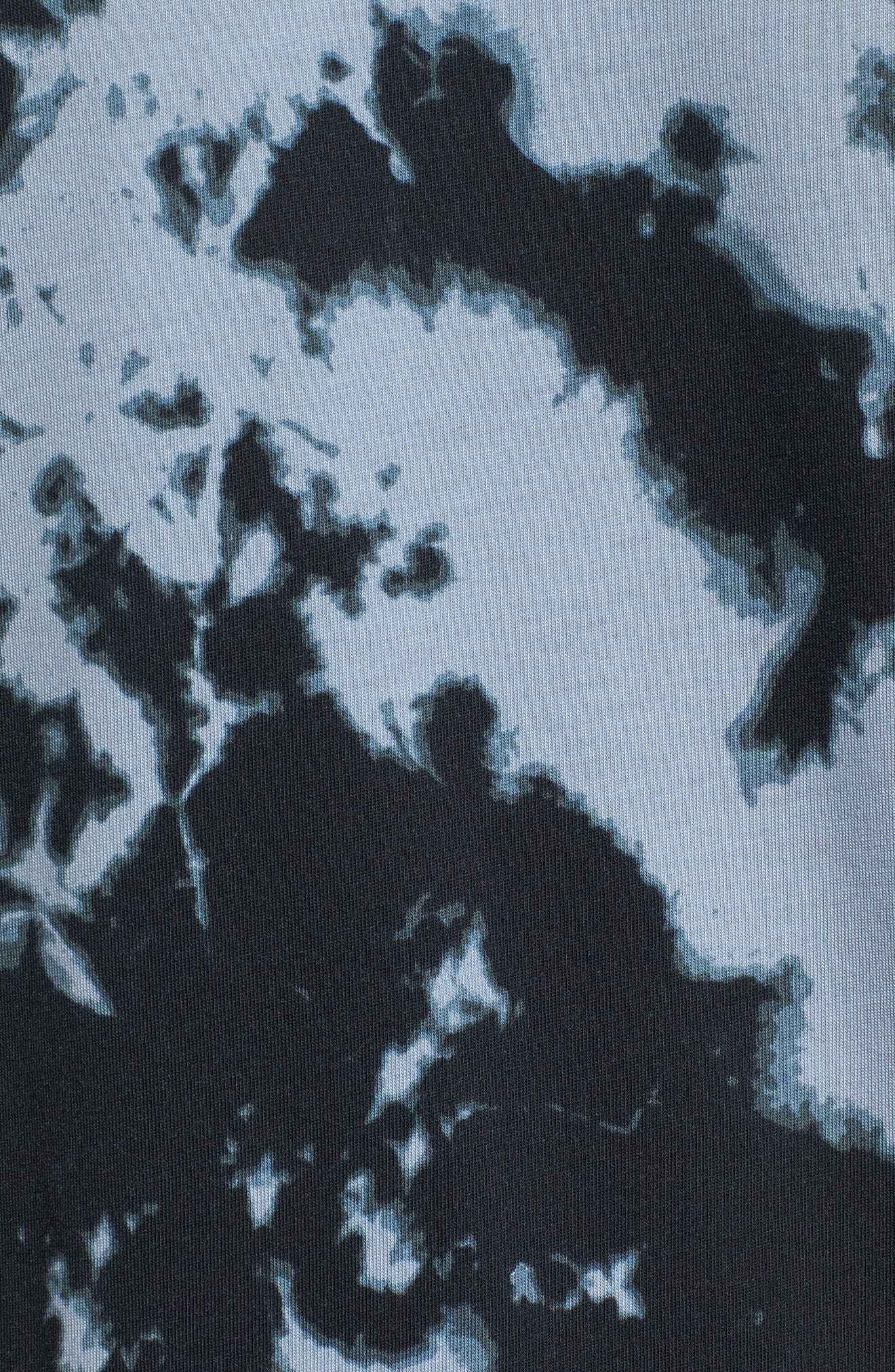 Sportswear Tie Dye T-Shirt,                             Alternate thumbnail 5, color,                             Wolf Grey/ White/ White