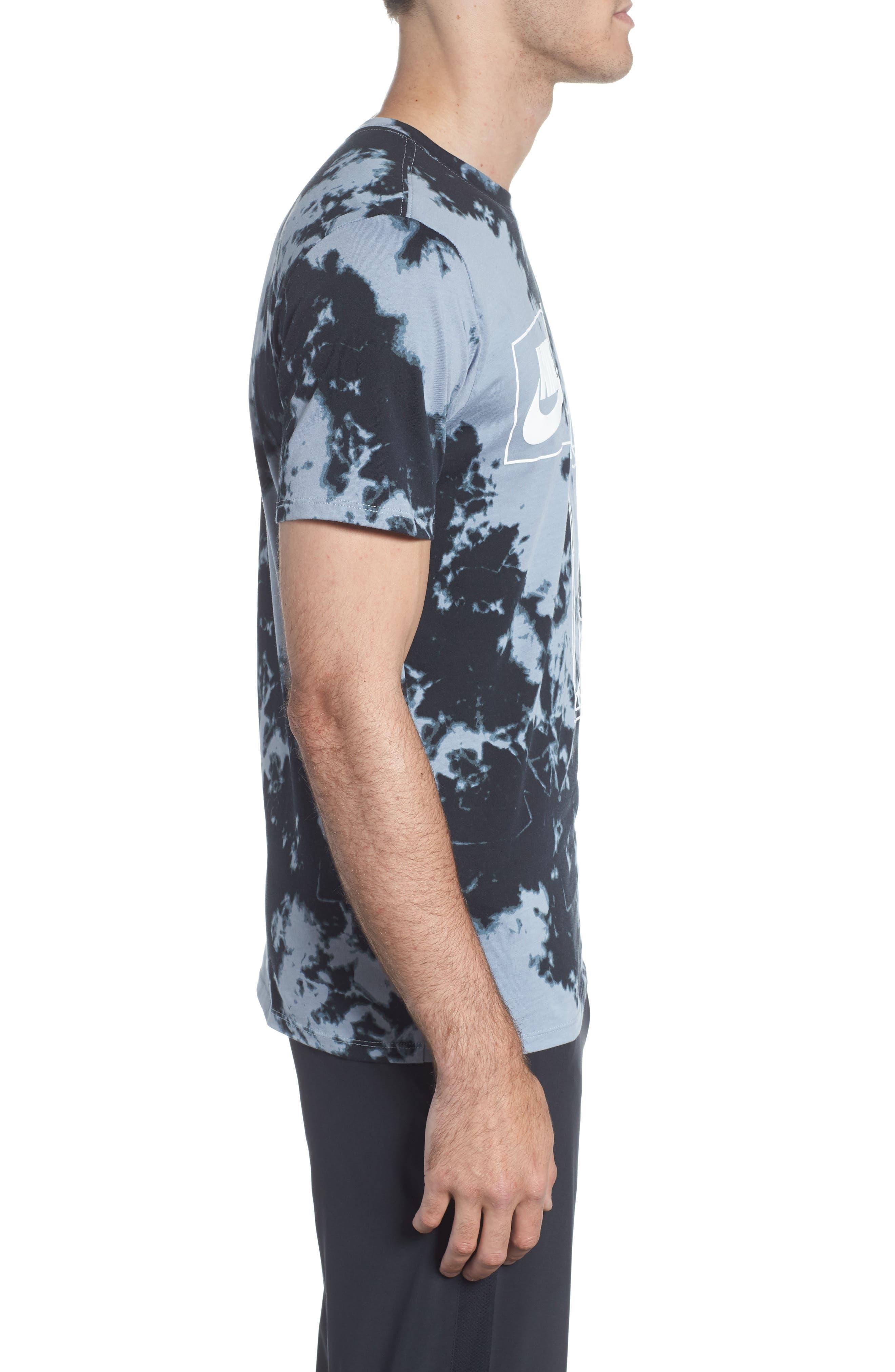 Sportswear Tie Dye T-Shirt,                             Alternate thumbnail 3, color,                             Wolf Grey/ White/ White