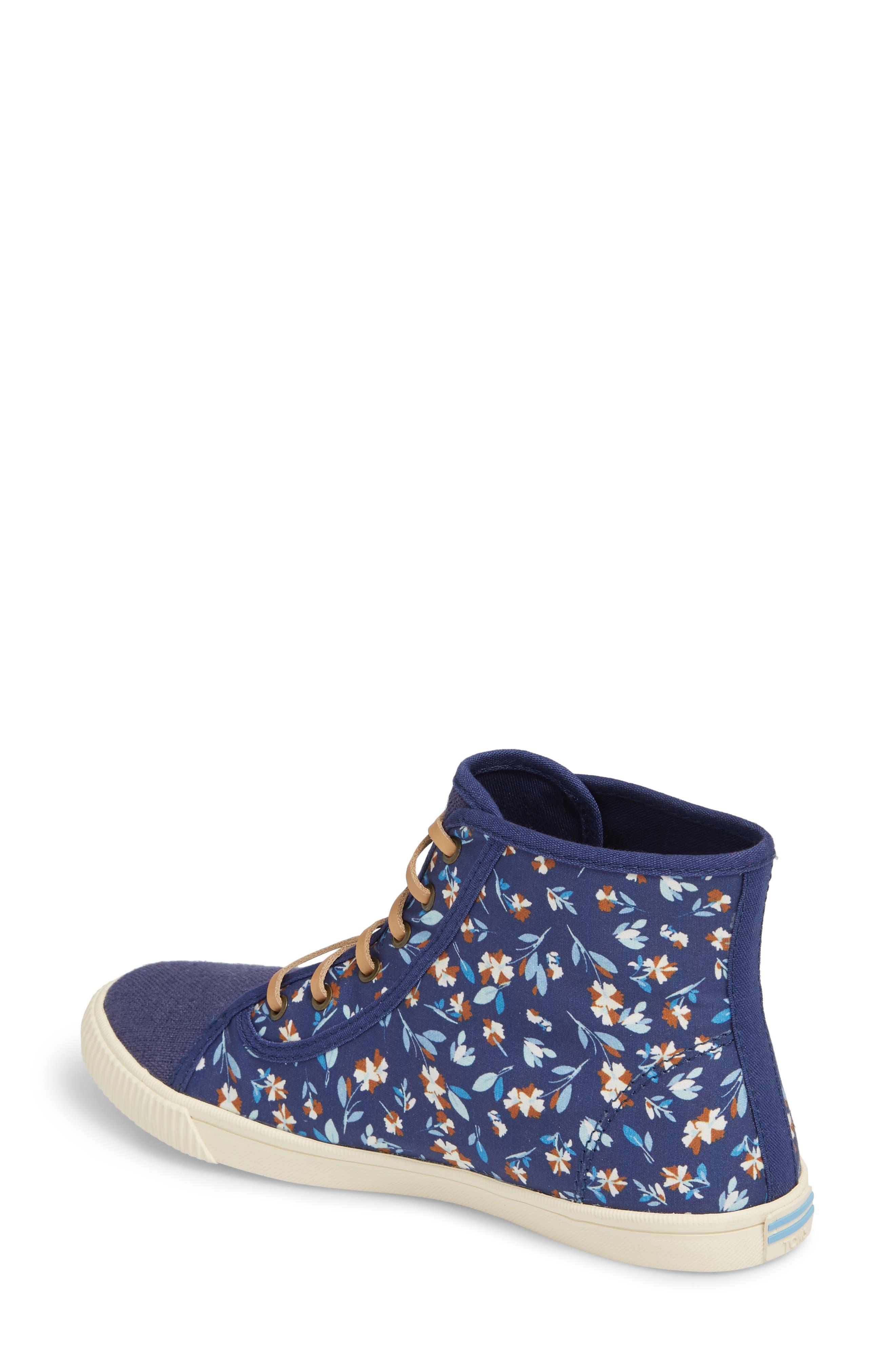 Camarillo High Top Sneaker,                             Alternate thumbnail 2, color,                             Deep Blue Vintage Flower