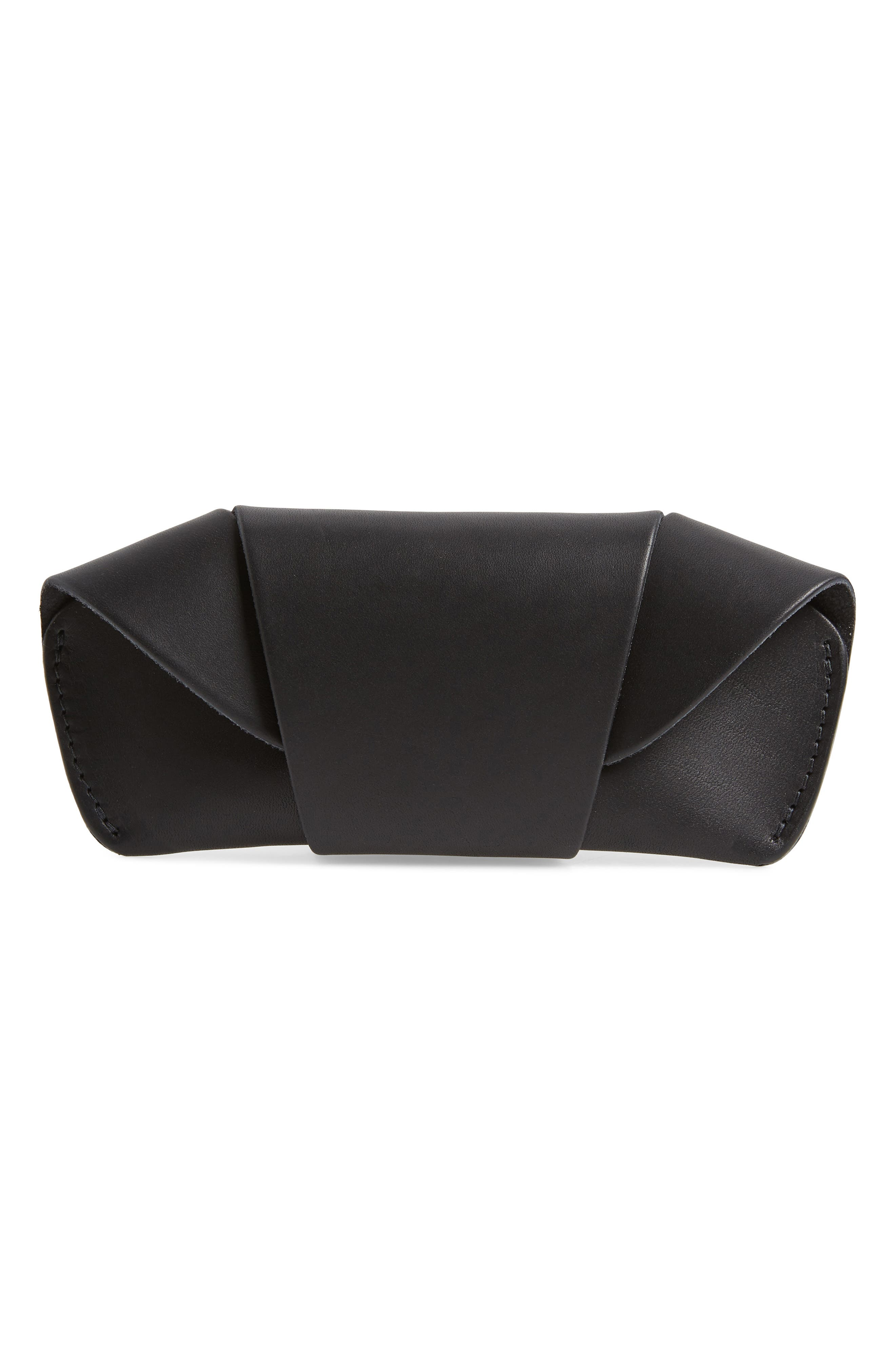 TANNER GOODS LEATHER SUNGLASS CASE - BLACK