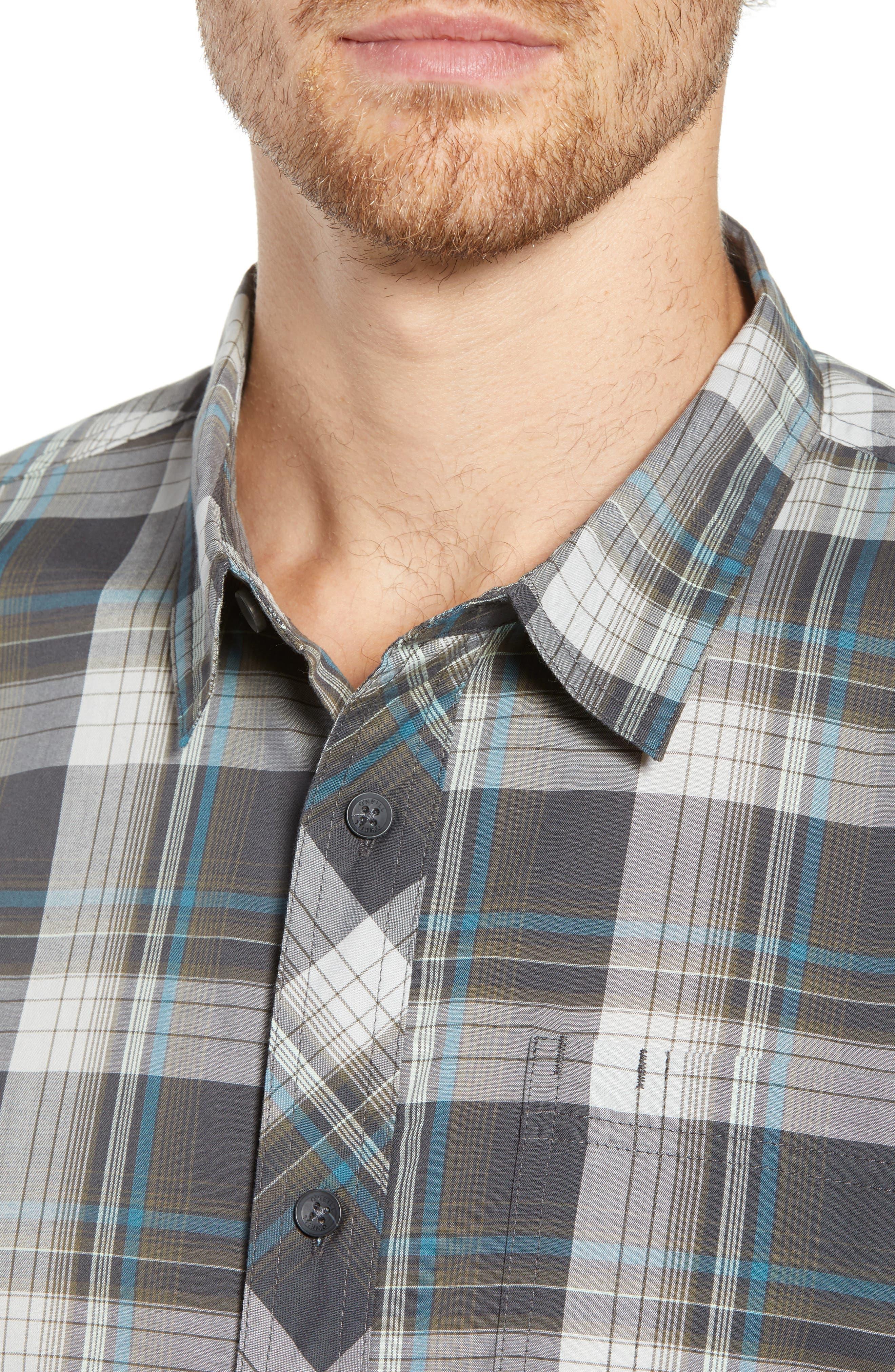 Gentry Short Sleeve Shirt,                             Alternate thumbnail 3, color,                             Asphalt