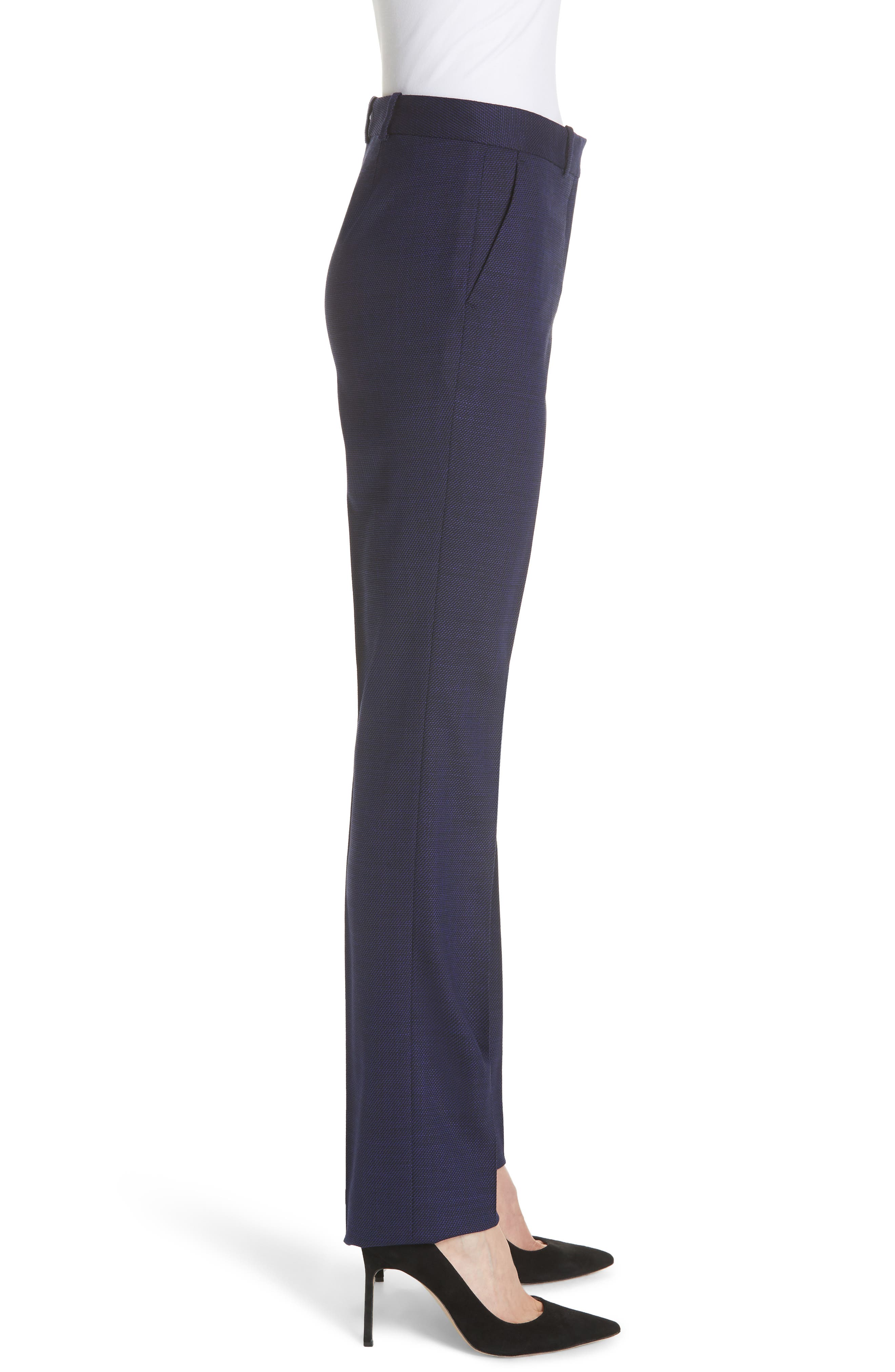 Titana Mini Glencheck Straight Leg Suit Pants,                             Alternate thumbnail 3, color,                             Deep Lilac Fantasy