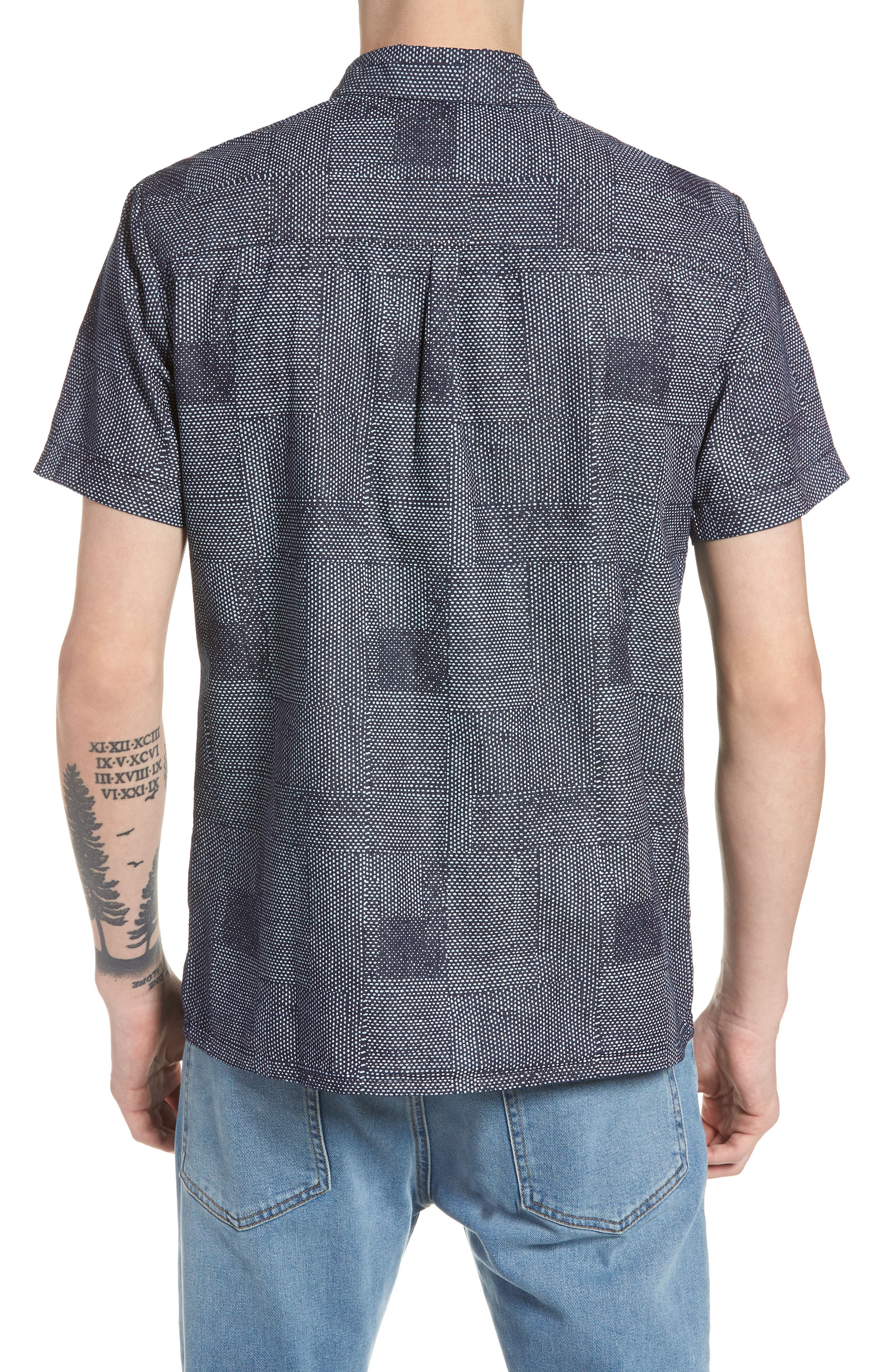 Dotpatch Woven Shirt,                             Alternate thumbnail 3, color,                             Indigo