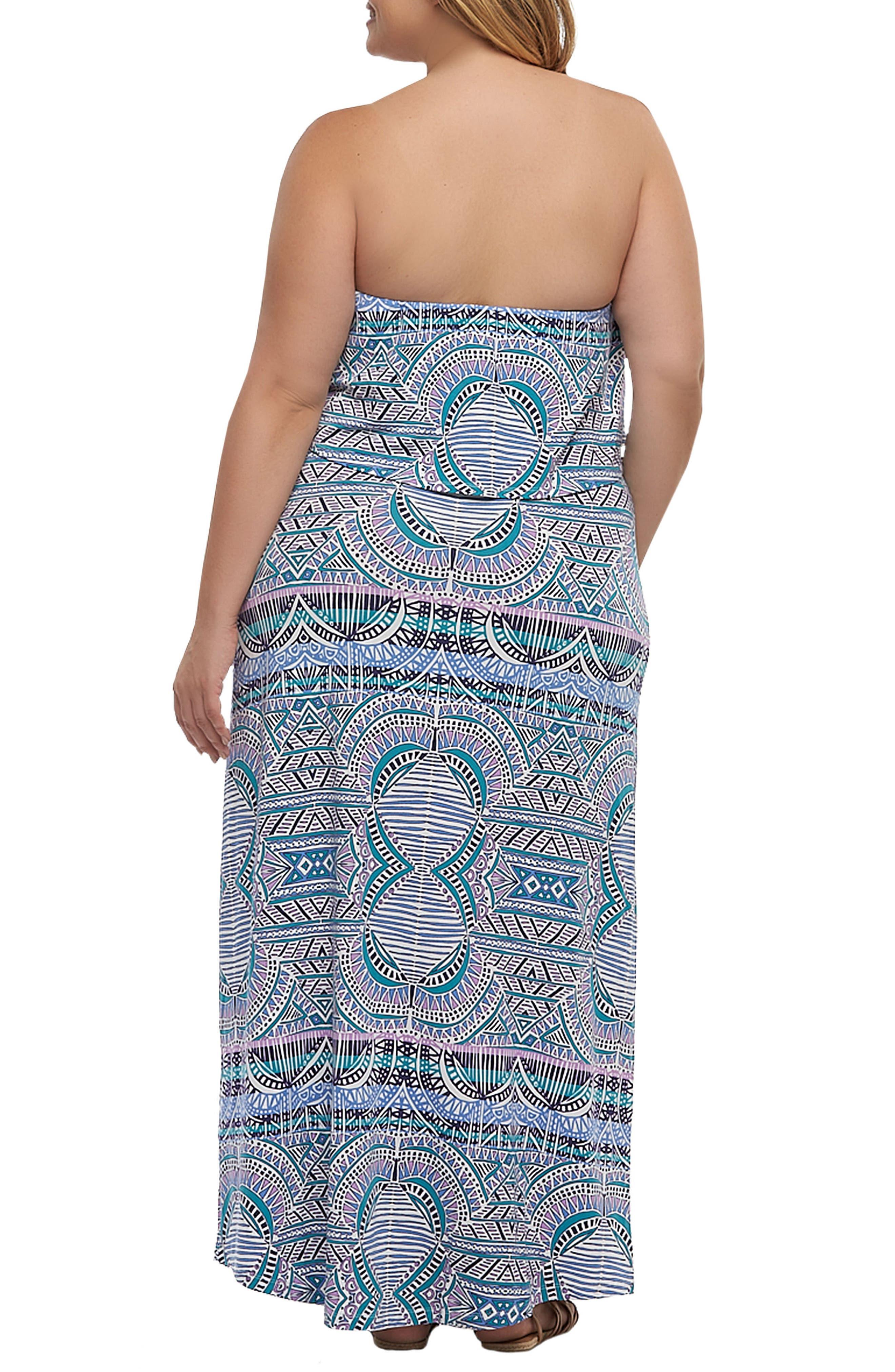 Aeryn Maxi Dress,                             Alternate thumbnail 2, color,                             Sunset Tiles