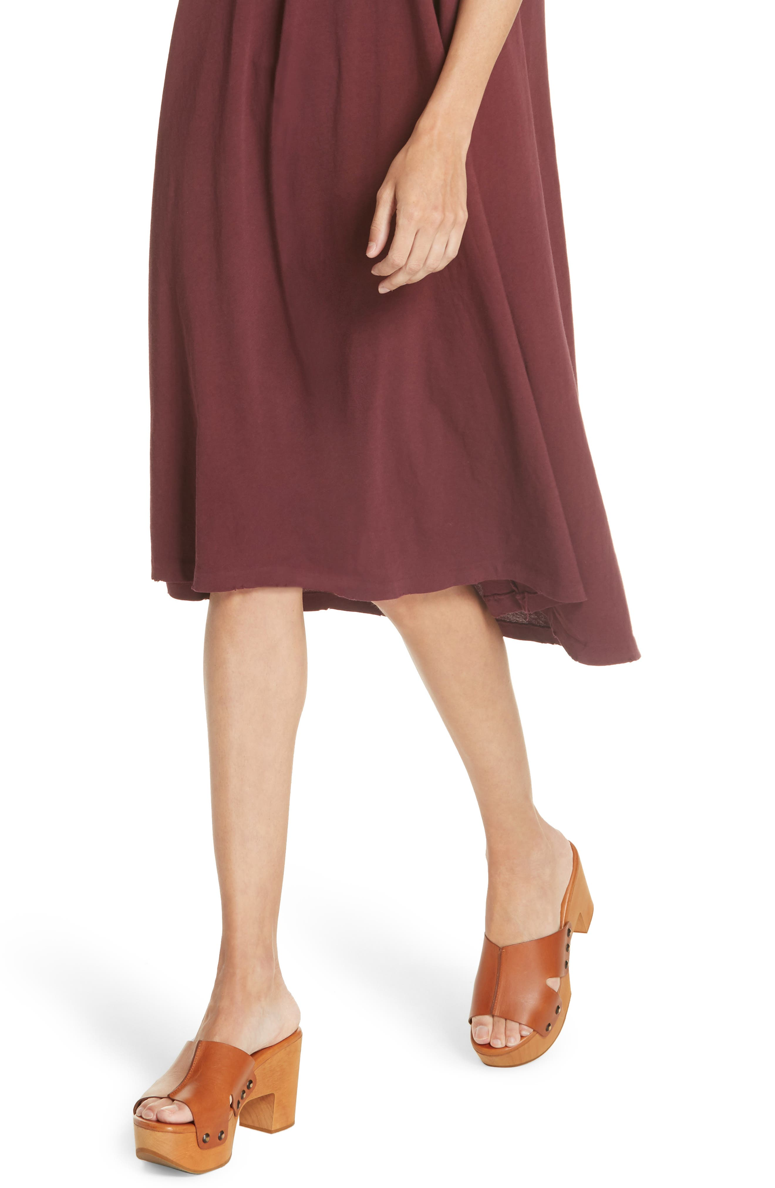 The Swing Tank Dress,                             Alternate thumbnail 4, color,                             Maroon