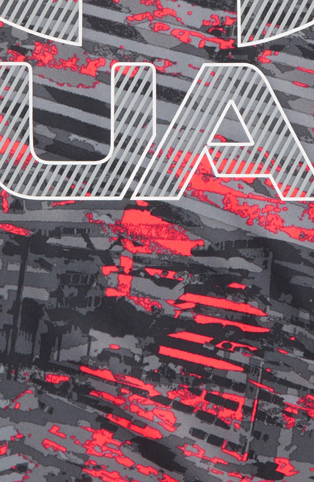 Vertigo Logo HeatGear<sup>®</sup> Graphic Shirt,                             Alternate thumbnail 2, color,                             Neon Coral