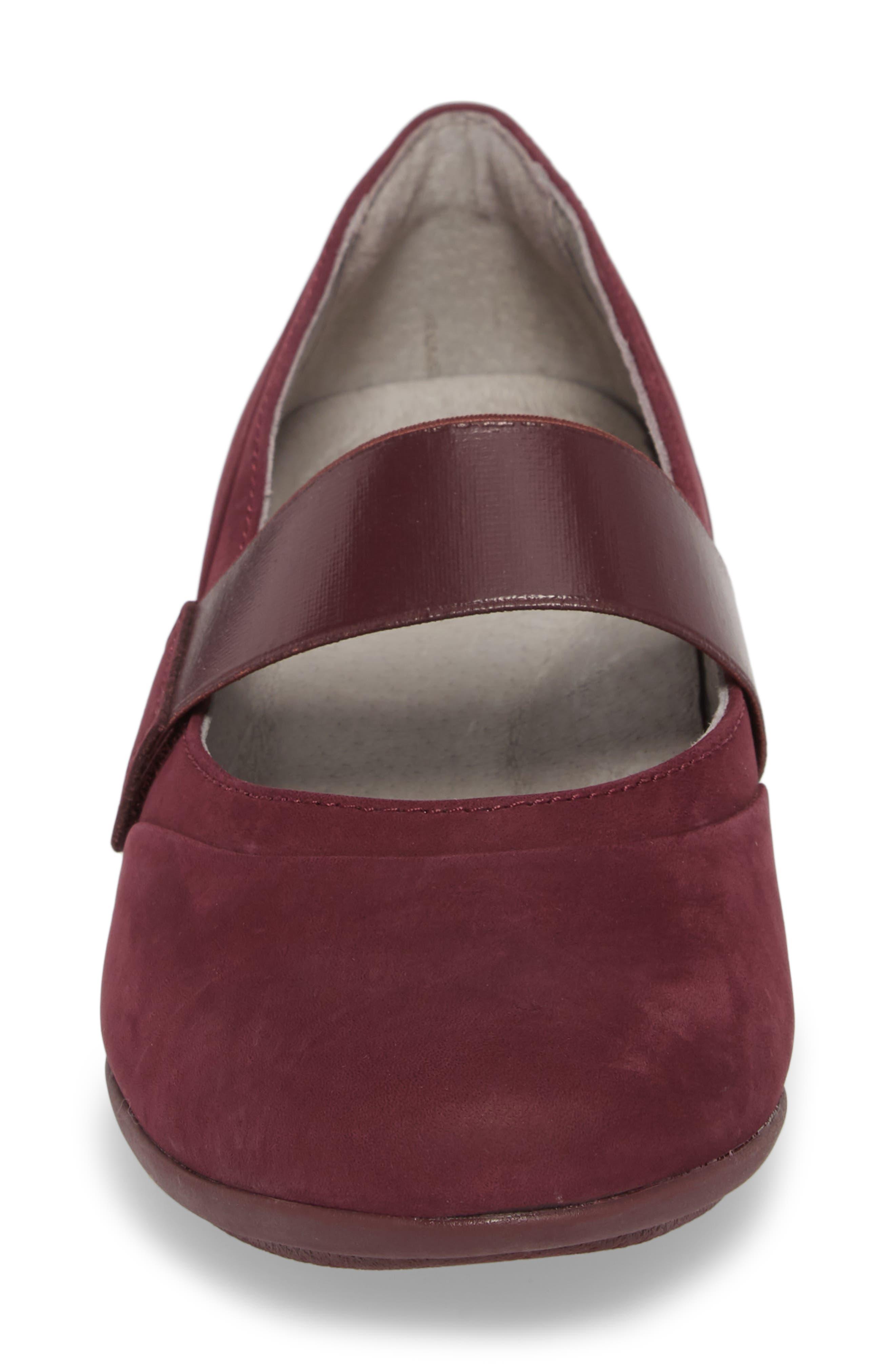 Kendra Mary Jane Wedge,                             Alternate thumbnail 3, color,                             Wine Milled Nubuck Leather