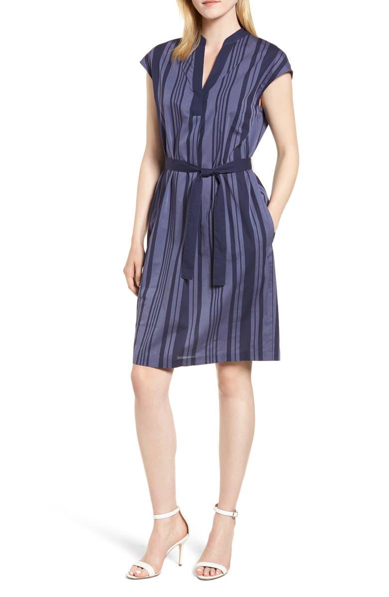 Pinstripe Sheath Dress