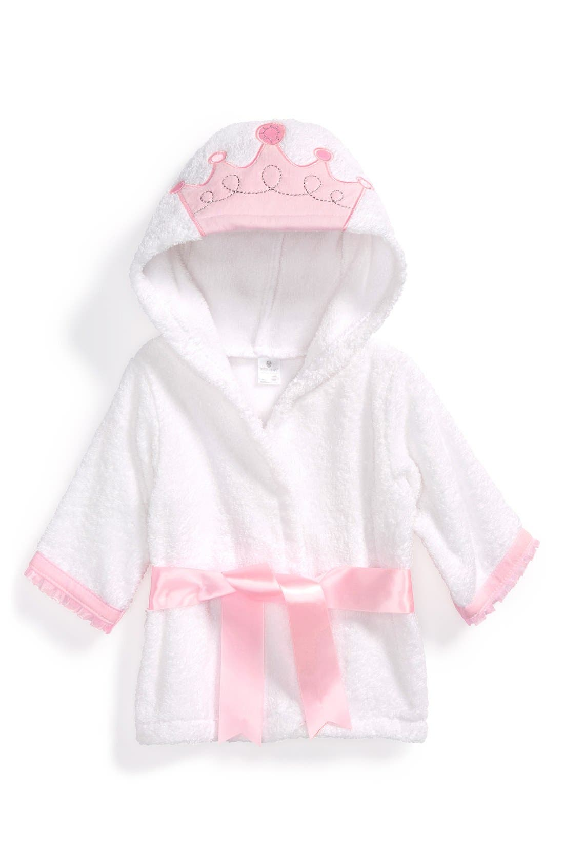 Little Princess Hooded Terry Robe,                             Main thumbnail 1, color,                             Pink/ White