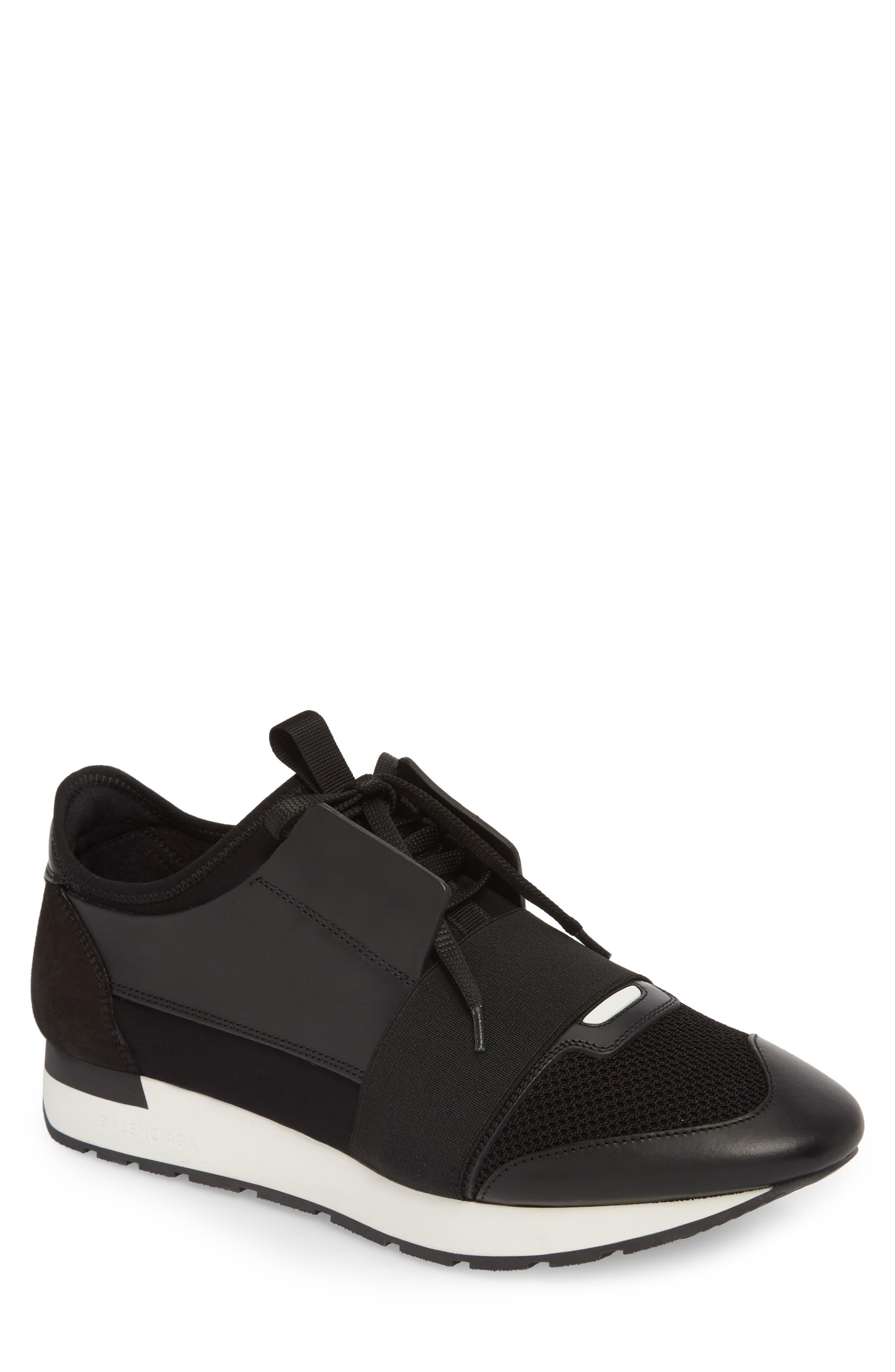 Race Runner Sneaker,                             Main thumbnail 1, color,                             Noir/ Black