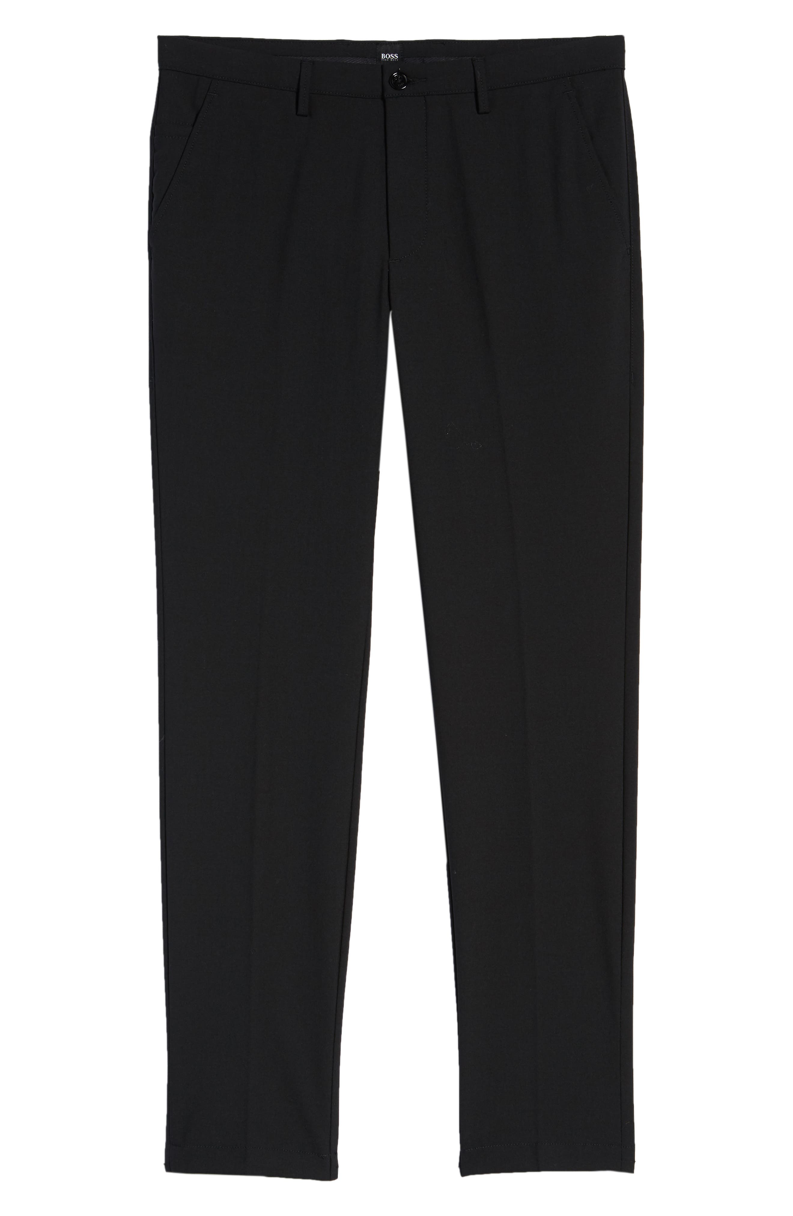 Kaito Slim Fit Trousers,                             Alternate thumbnail 6, color,                             Black