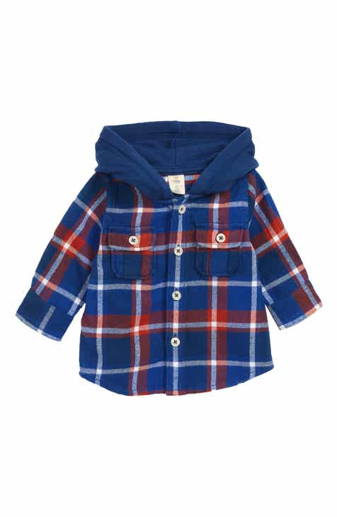 Nordstrom baby clothing shoes accessories nordstrom tucker tate plaid hooded flannel shirt baby boys negle Choice Image