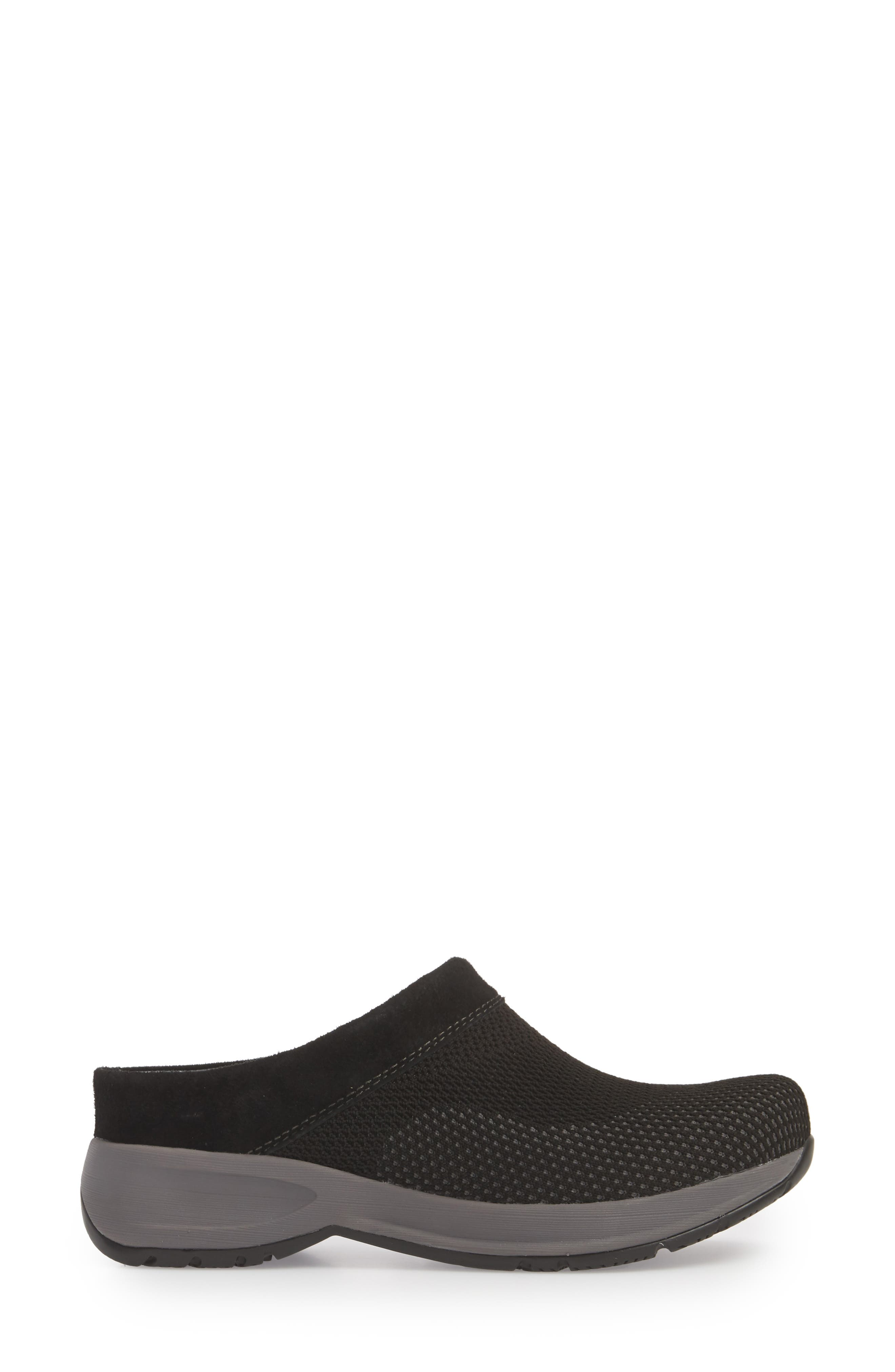 Sondra Clog,                             Alternate thumbnail 6, color,                             Black Suede