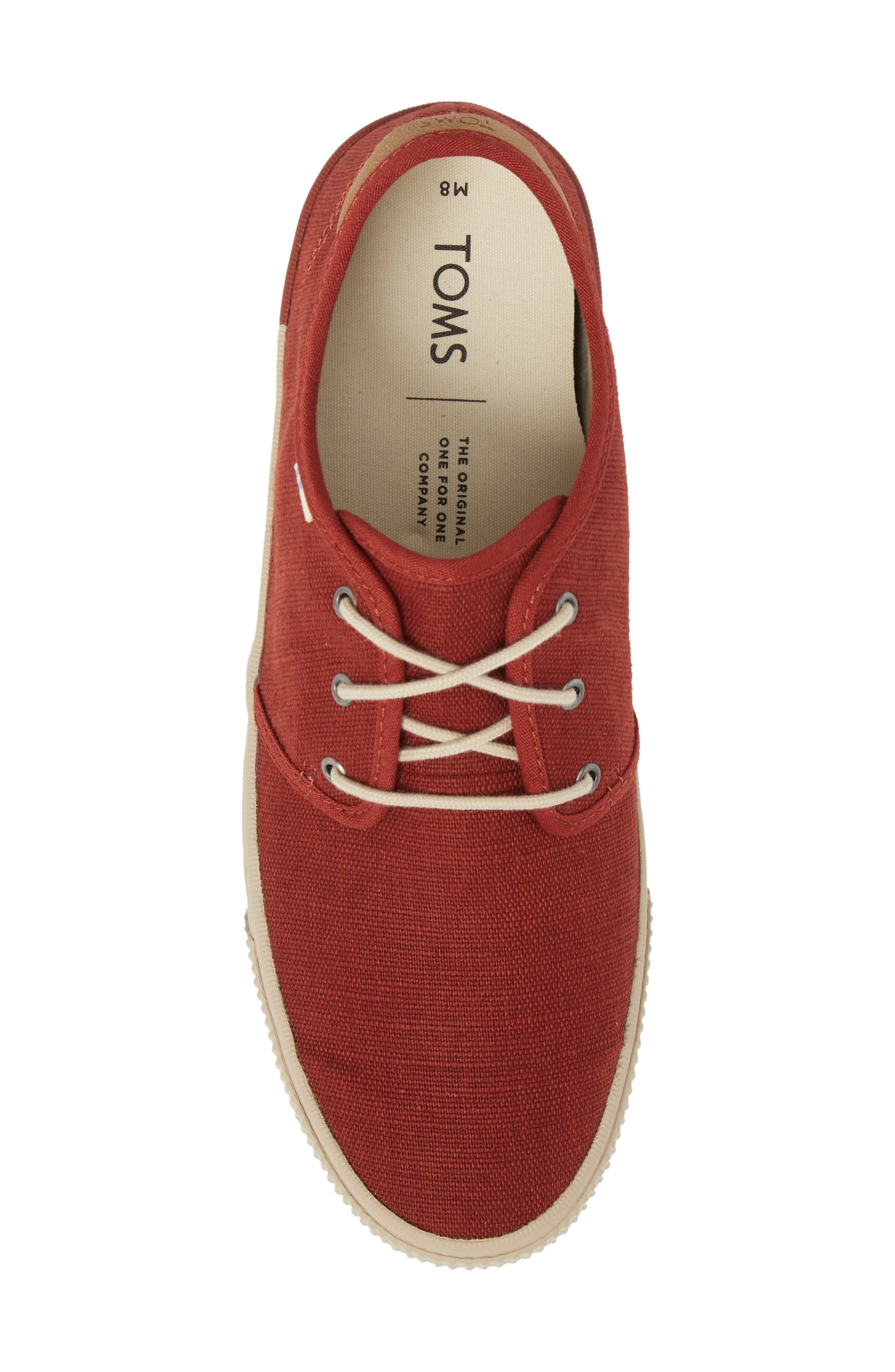 Carlo Low Top Sneaker,                             Alternate thumbnail 3, color,                             Burnt Henna Heritage Canvas