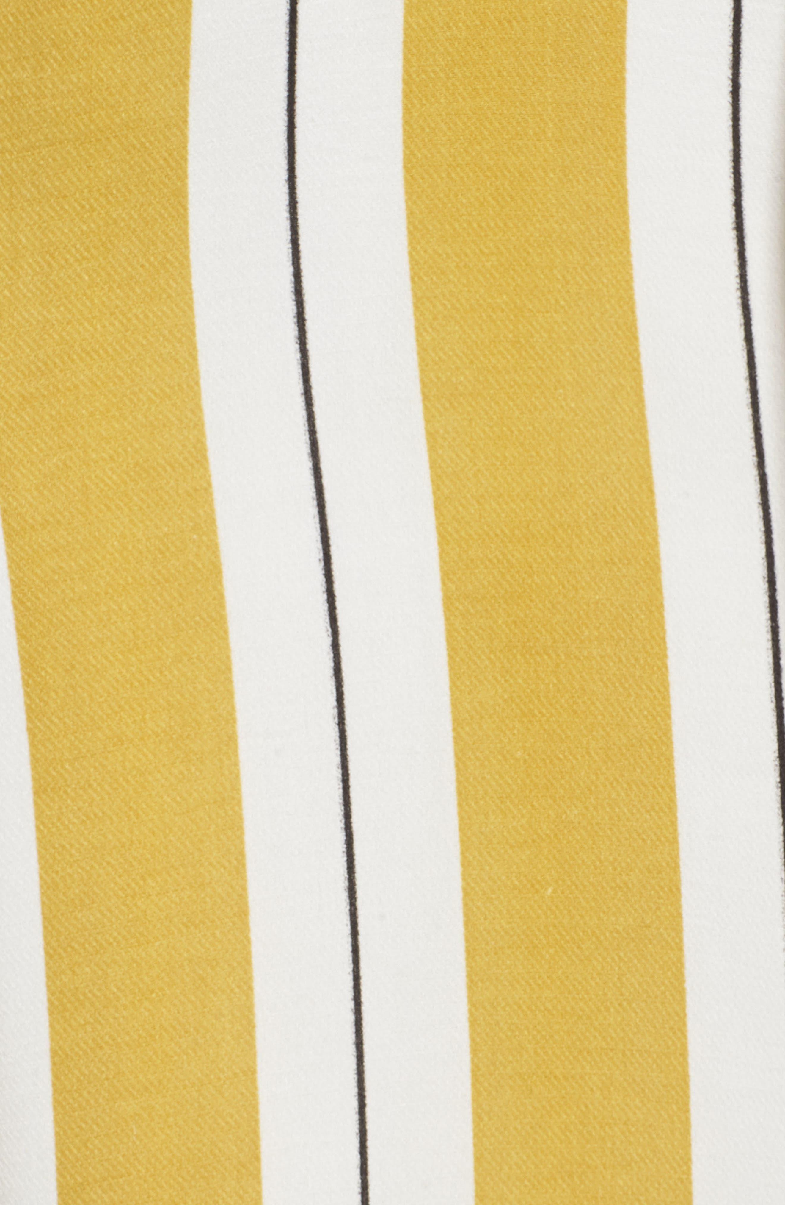 Stripe Midi Dress,                             Alternate thumbnail 7, color,                             Yellow Stripe Per Sample