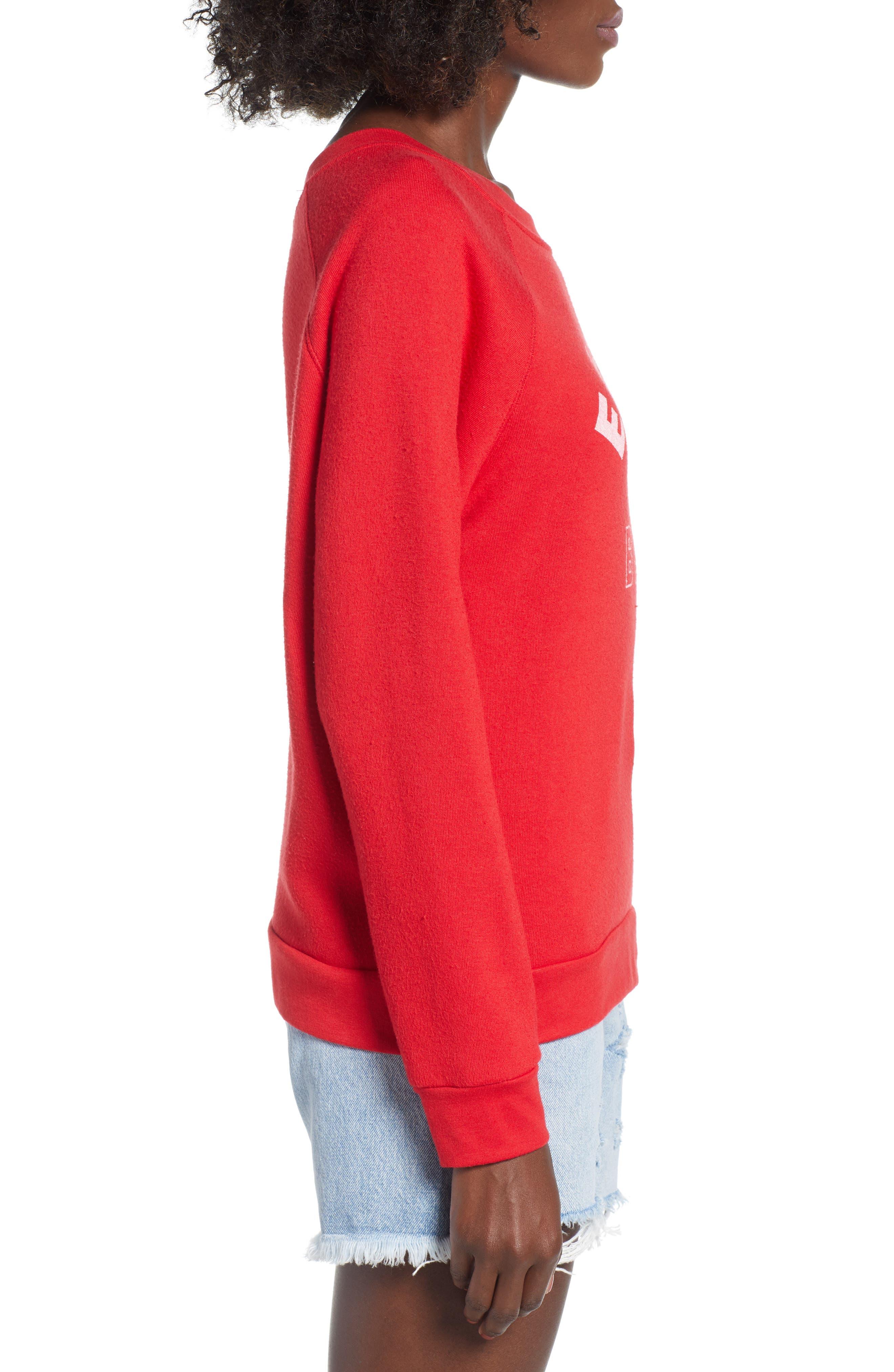 Reversible Sweatshirt,                             Alternate thumbnail 4, color,                             Red