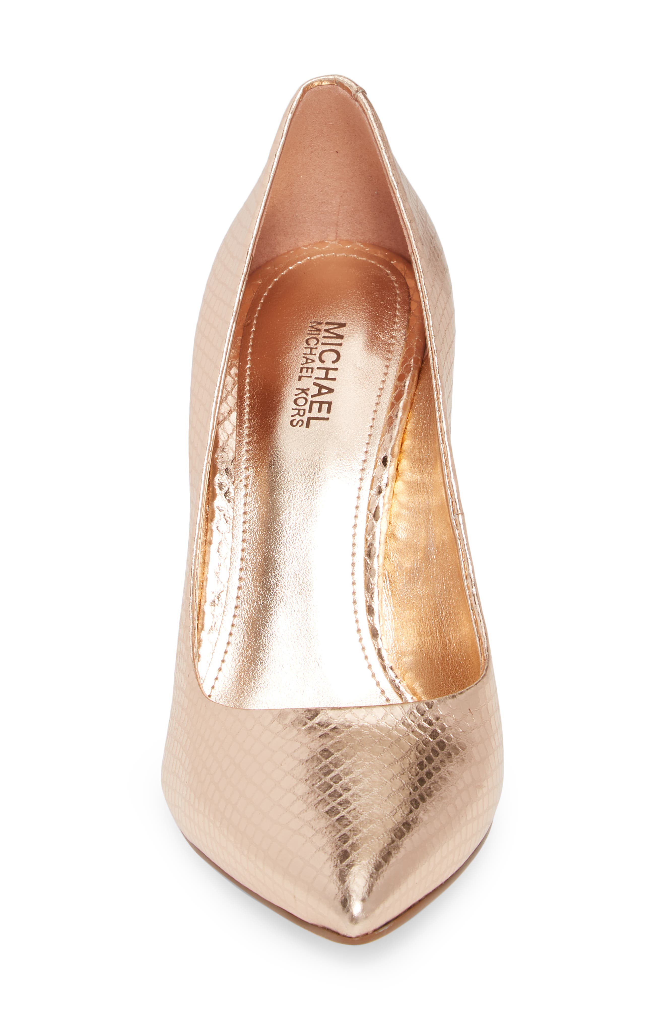 Claire Pointy Toe Pump,                             Alternate thumbnail 6, color,                             Soft Pink Snake Print Fabric