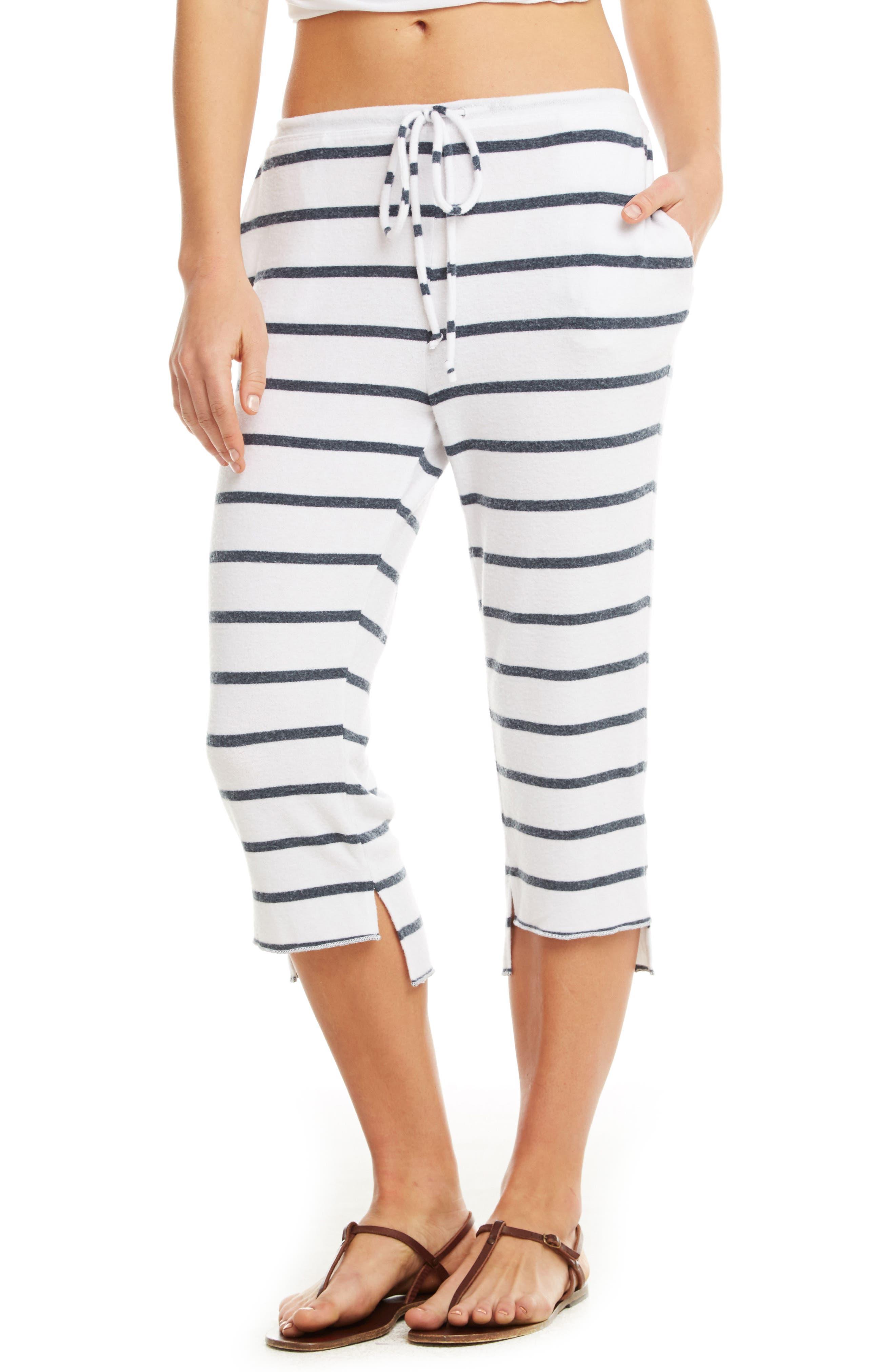 Love Knit Crop Pajama Pants,                             Main thumbnail 1, color,                             Stripe