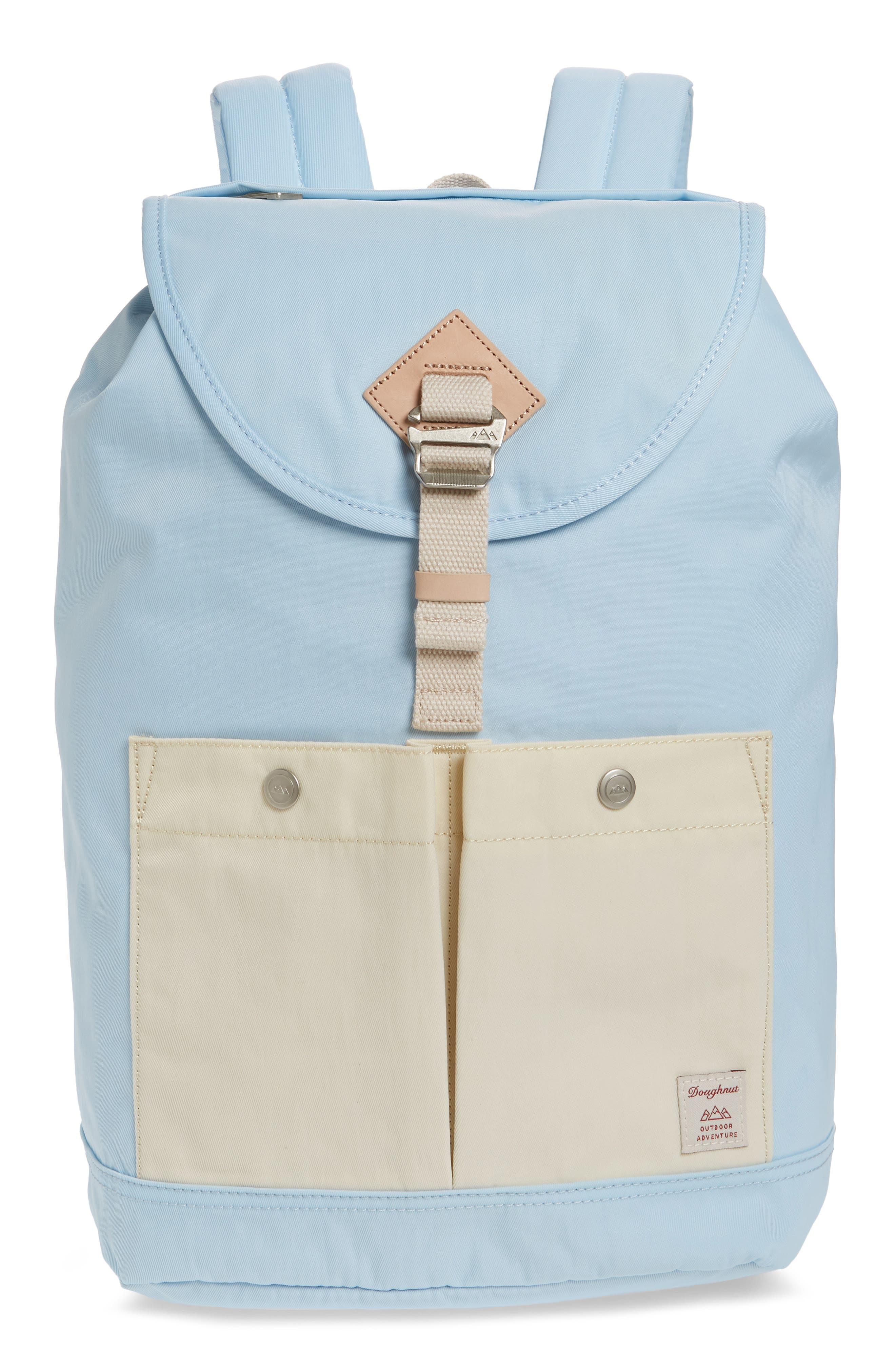 DOUGHNUT Montana Water Repellent Backpack - Blue in Iceberg/ Cream