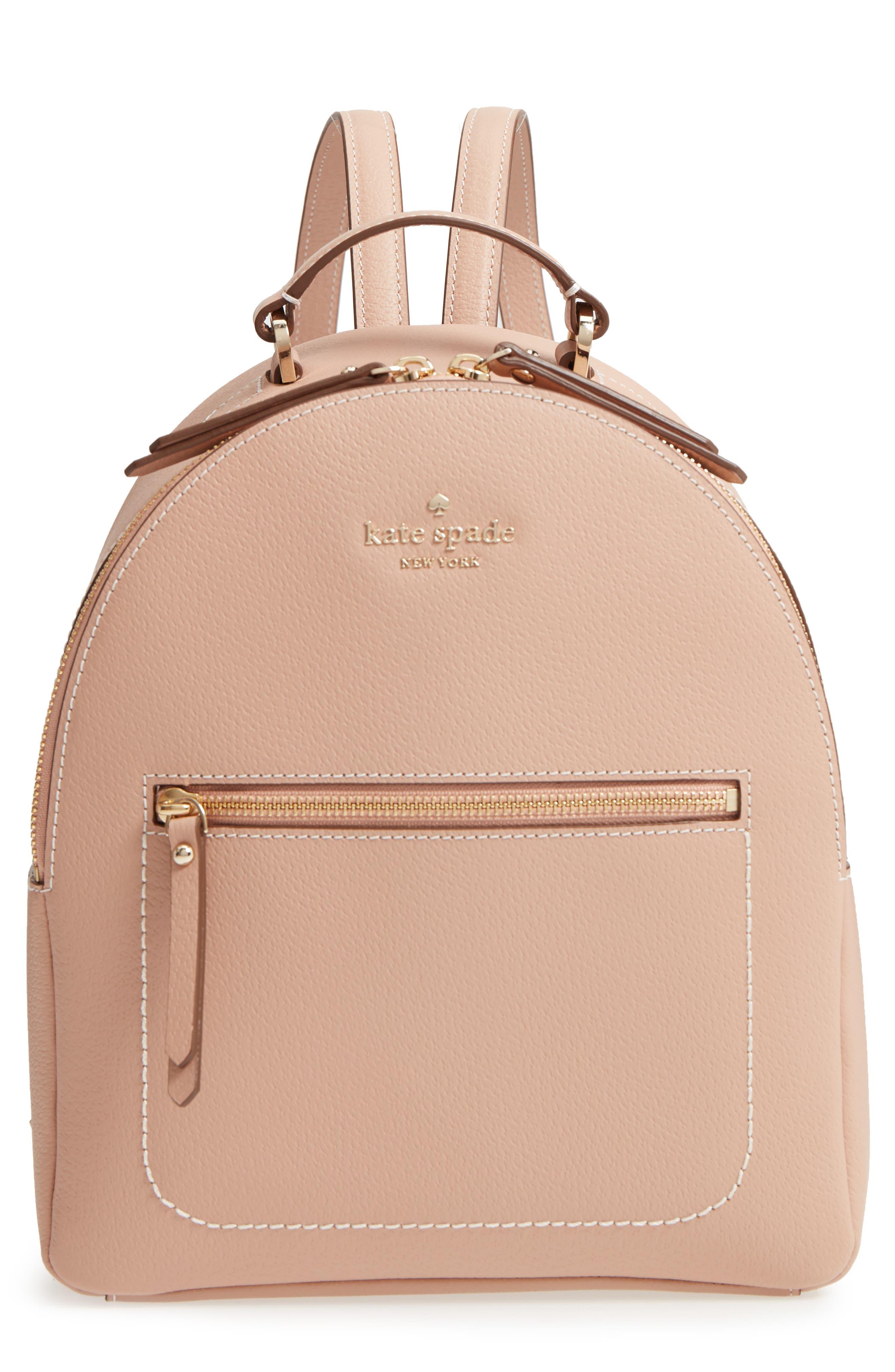 thompson street - brooke leather backpack,                         Main,                         color, Ginger Tea