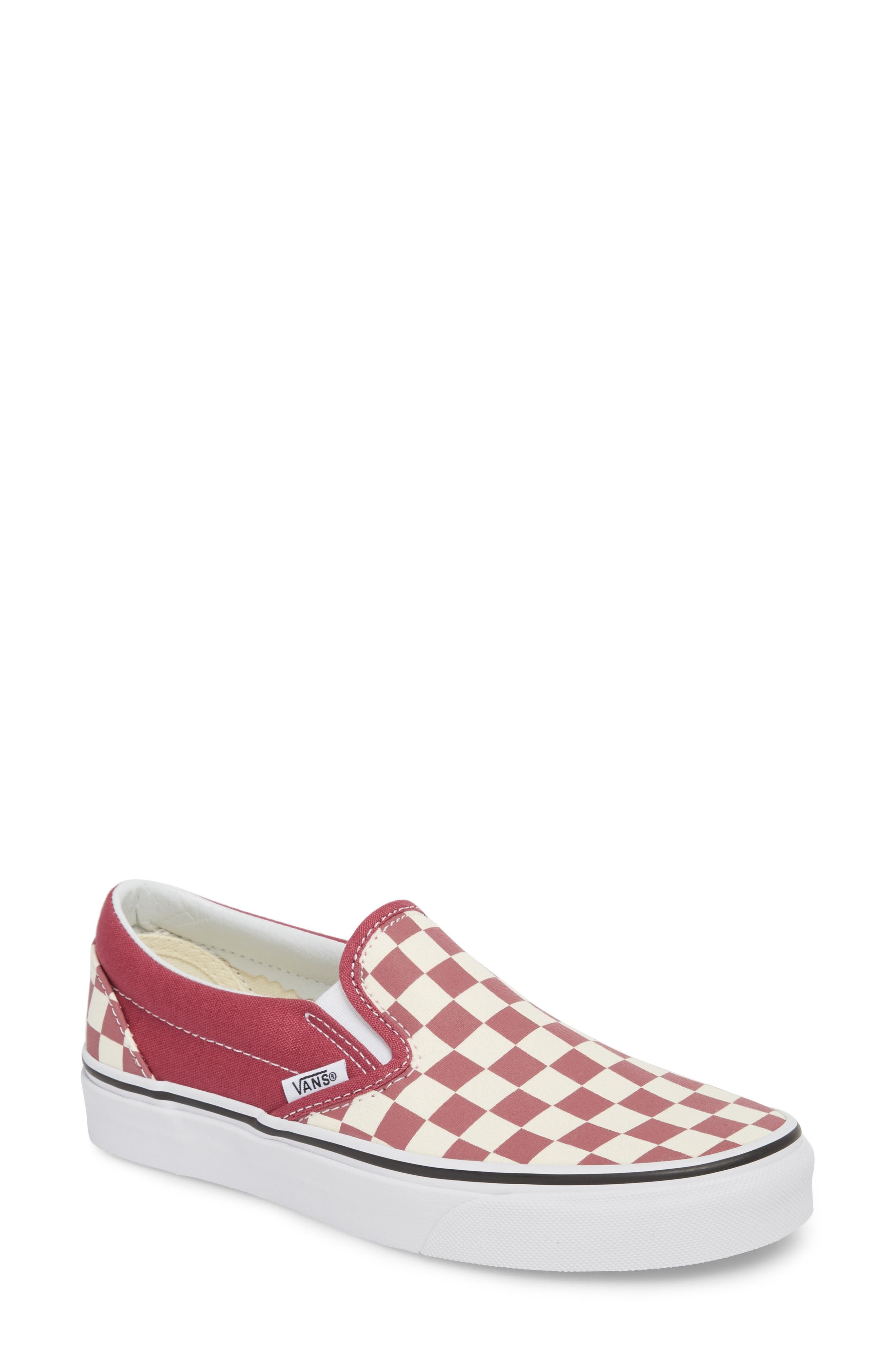 'Classic' Slip-On,                         Main,                         color, Dry Rose/ White