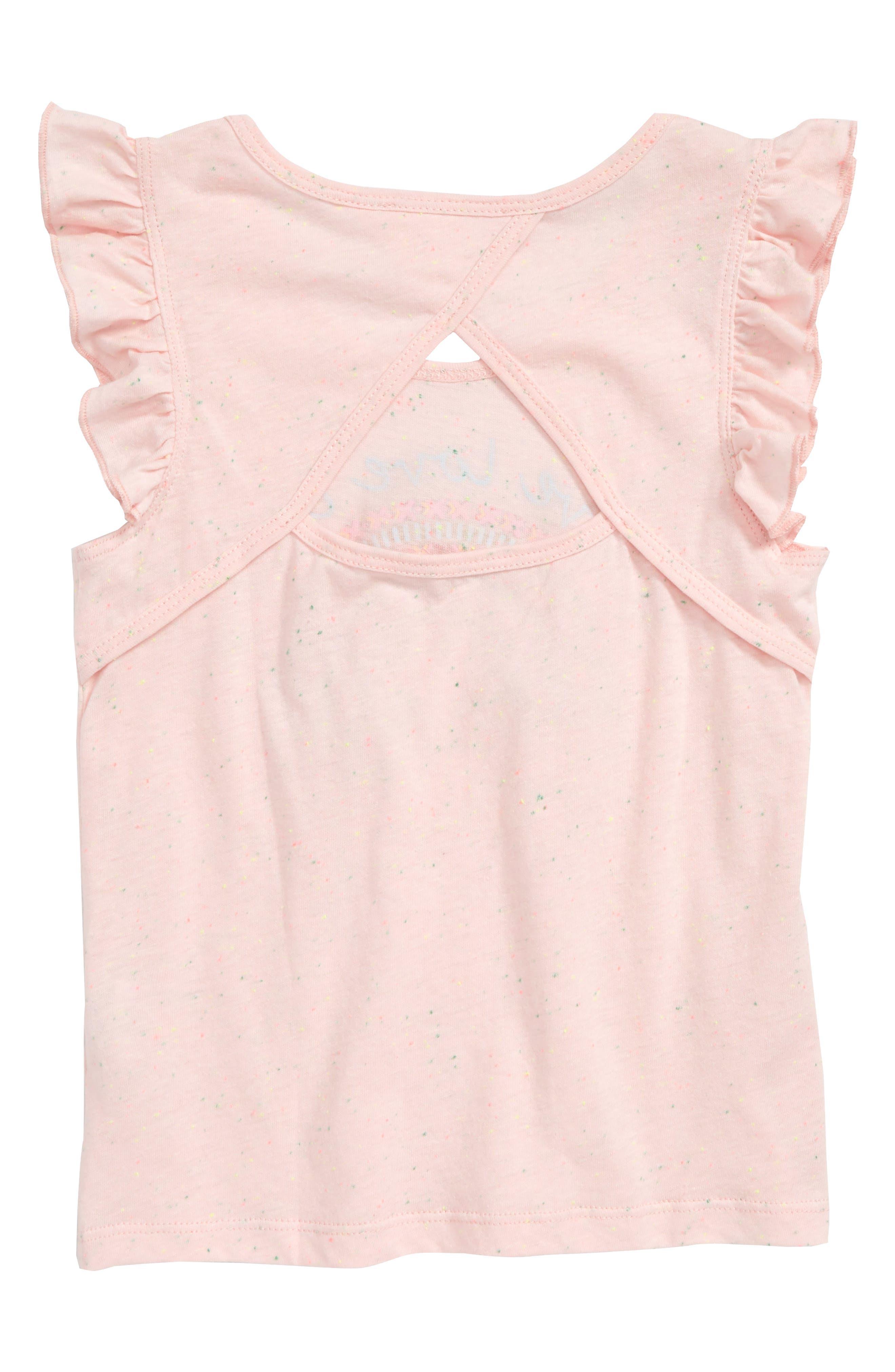 Love Glitter Embellished Tee,                             Alternate thumbnail 2, color,                             Light Pink