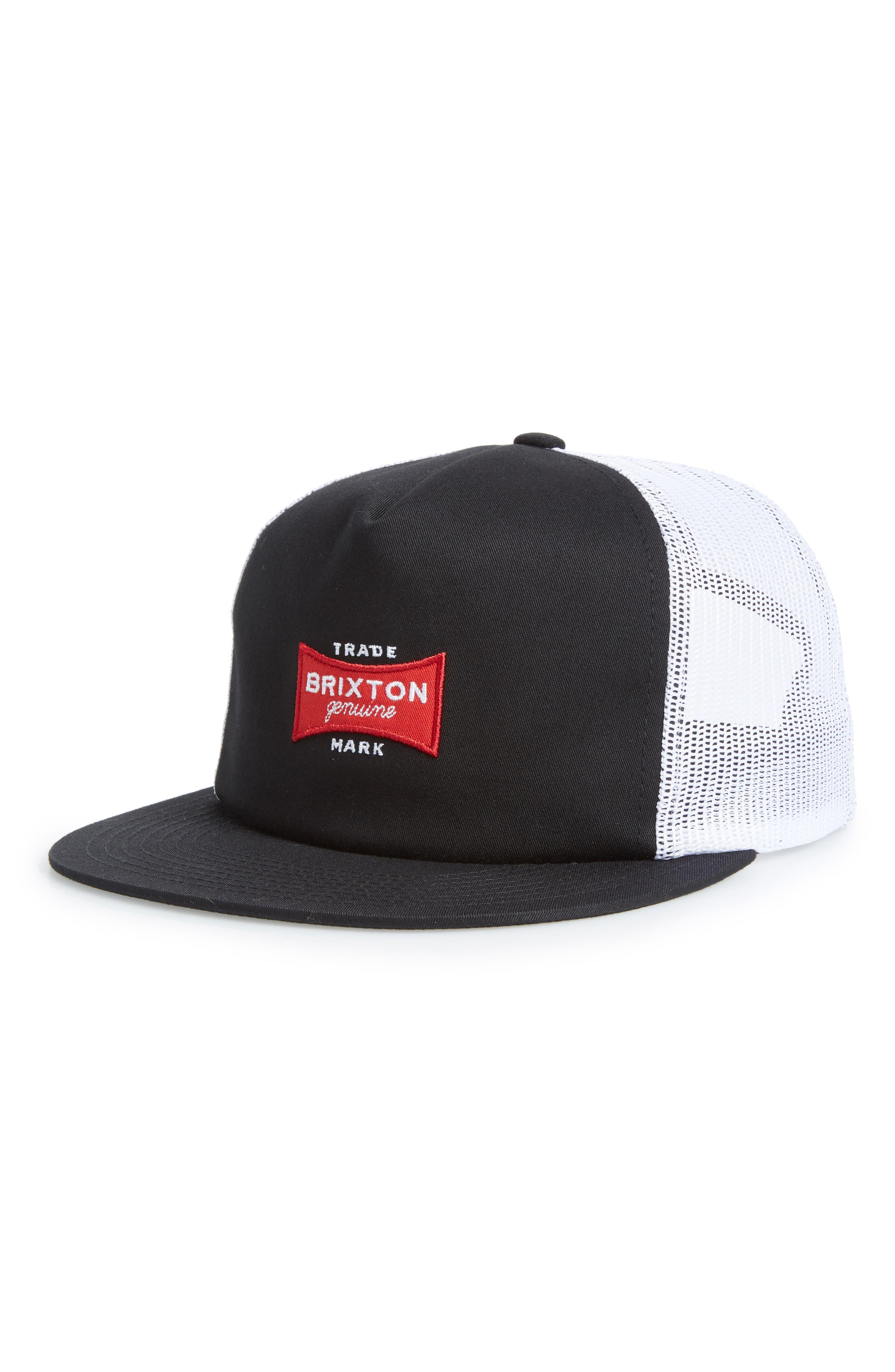 Mesh Back Cap,                             Main thumbnail 1, color,                             Black