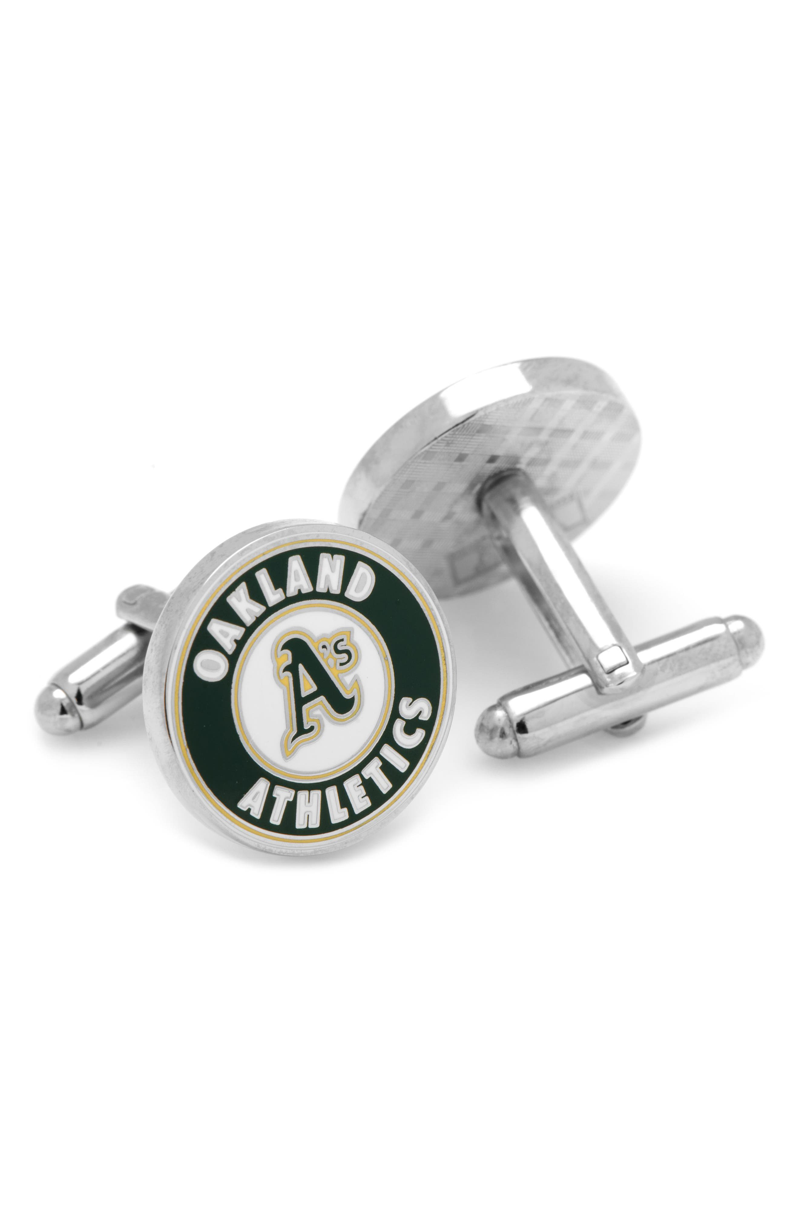 Oakland Athletics Cuff Links,                             Alternate thumbnail 2, color,                             Green