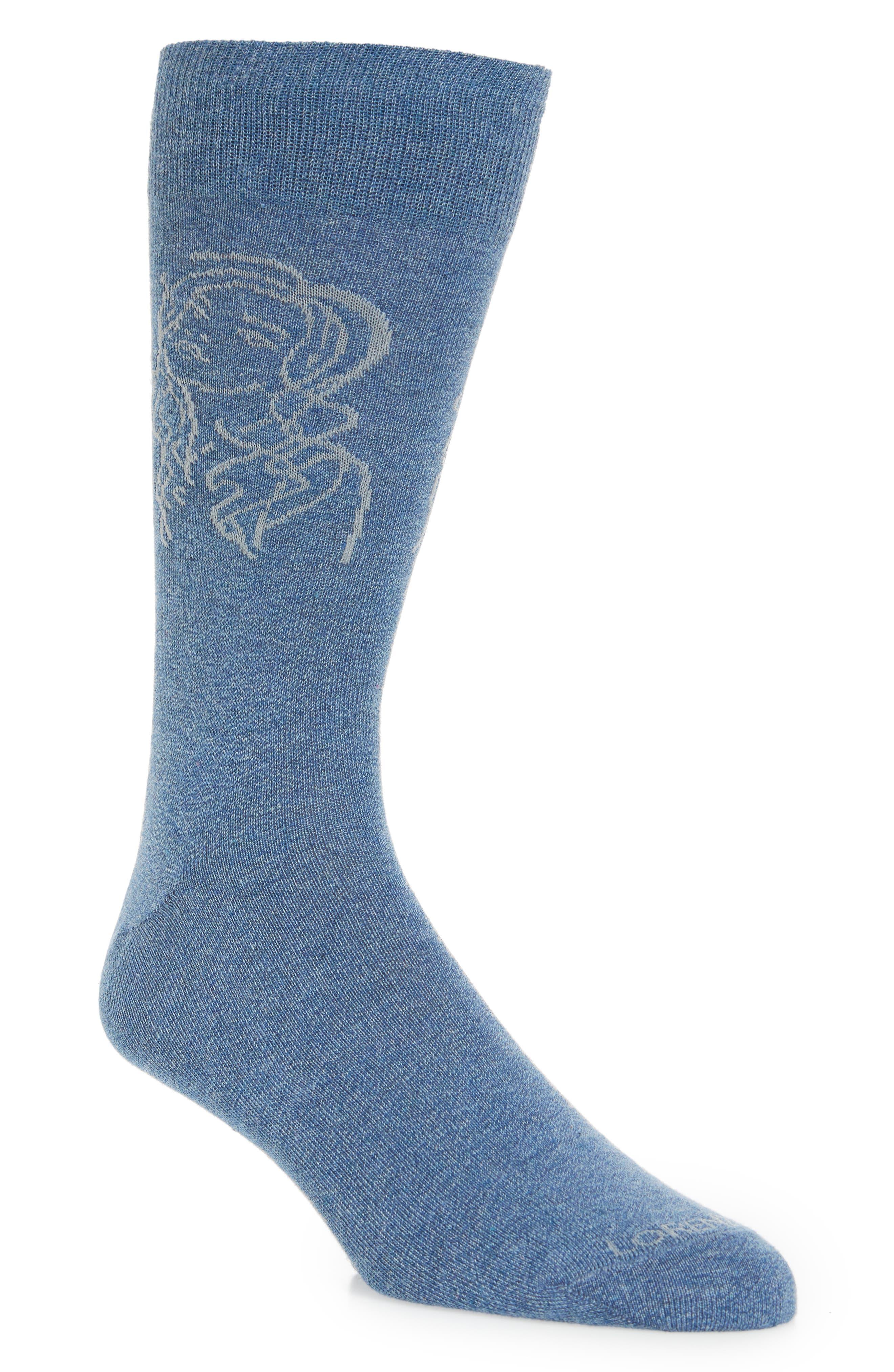 Girl 2 Socks,                             Main thumbnail 1, color,                             Denim