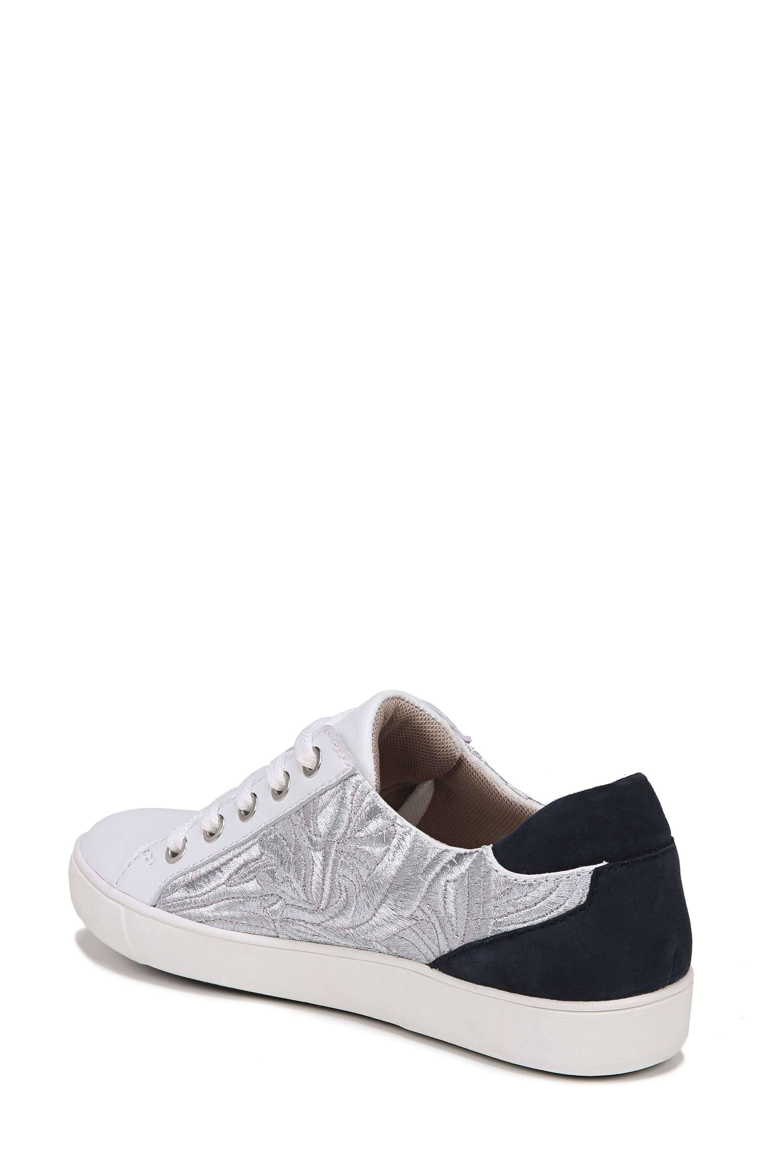 Morrison Sneaker,                             Alternate thumbnail 2, color,                             White/ Silver Leather