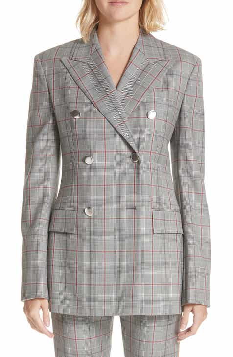 CALVIN KLEIN 205W39NYC Plaid Wool Jacket By CALVIN KLEIN 205W39NYC by CALVIN KLEIN 205W39NYC
