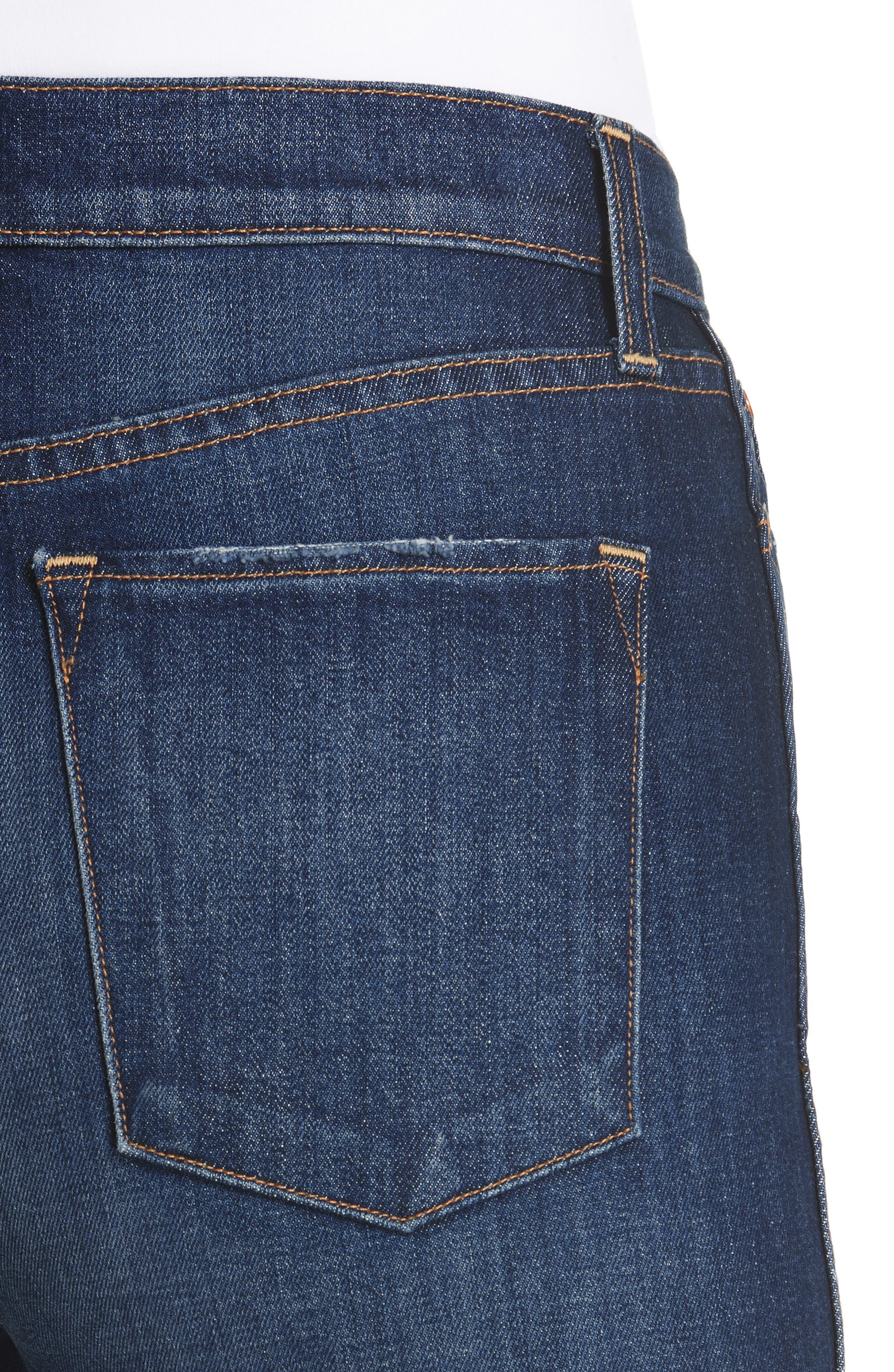 Good High Waist Front Slit Skinny Jeans,                             Alternate thumbnail 4, color,                             Good Times