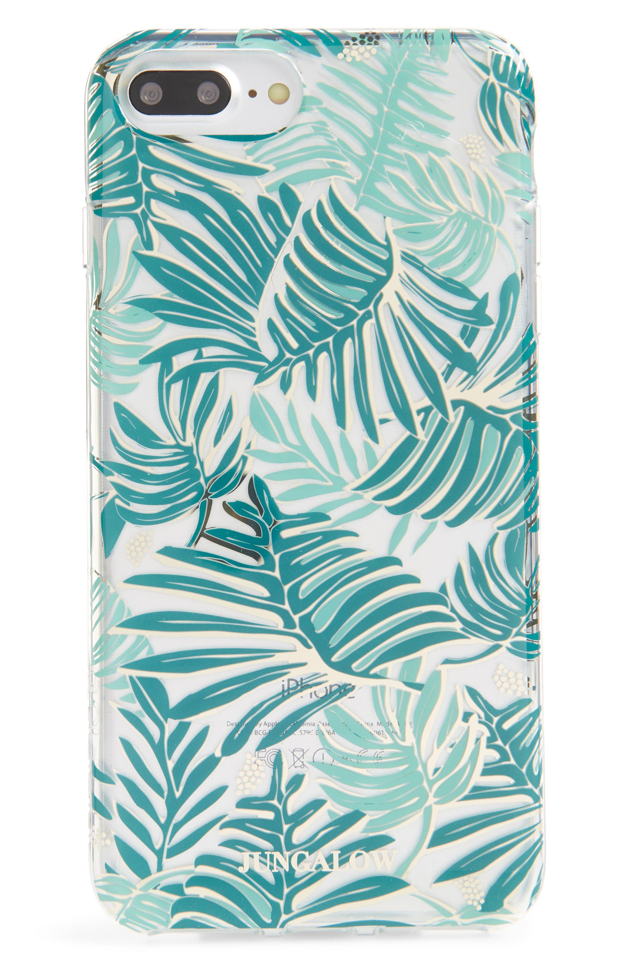 Jungalow Aja iPhone 7/8 & 7/8 Plus Case,                             Main thumbnail 1, color,                             Green Multi