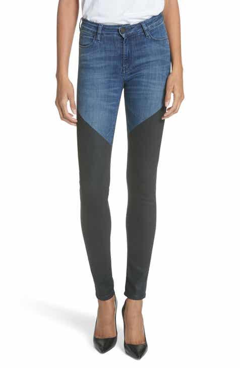 BROCKENBOW Emma Artemis Bicolor Skinny Jeans (Riviera Blue)