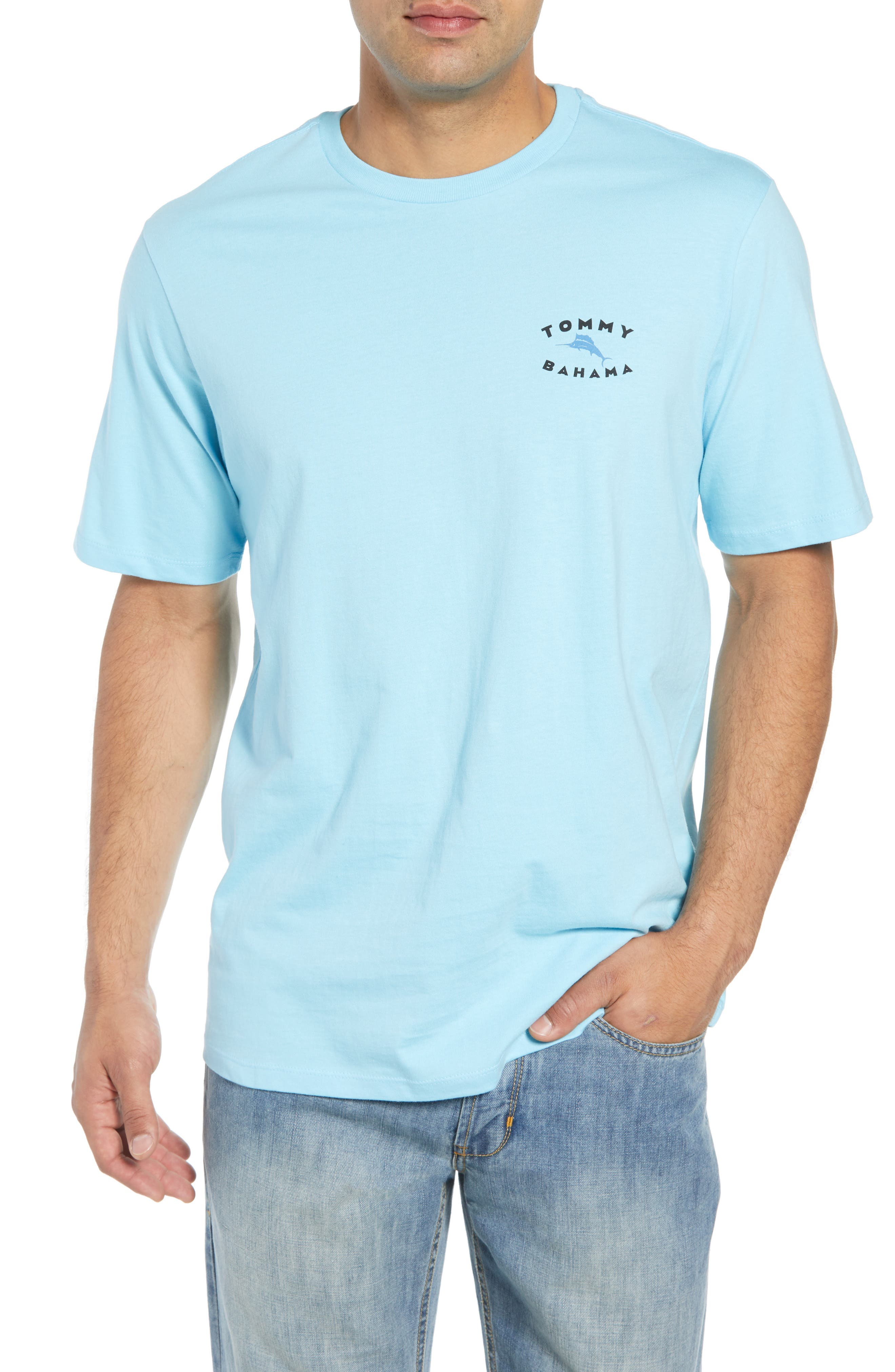 Complete Transparency T-Shirt,                             Main thumbnail 1, color,                             Bowtie Blue