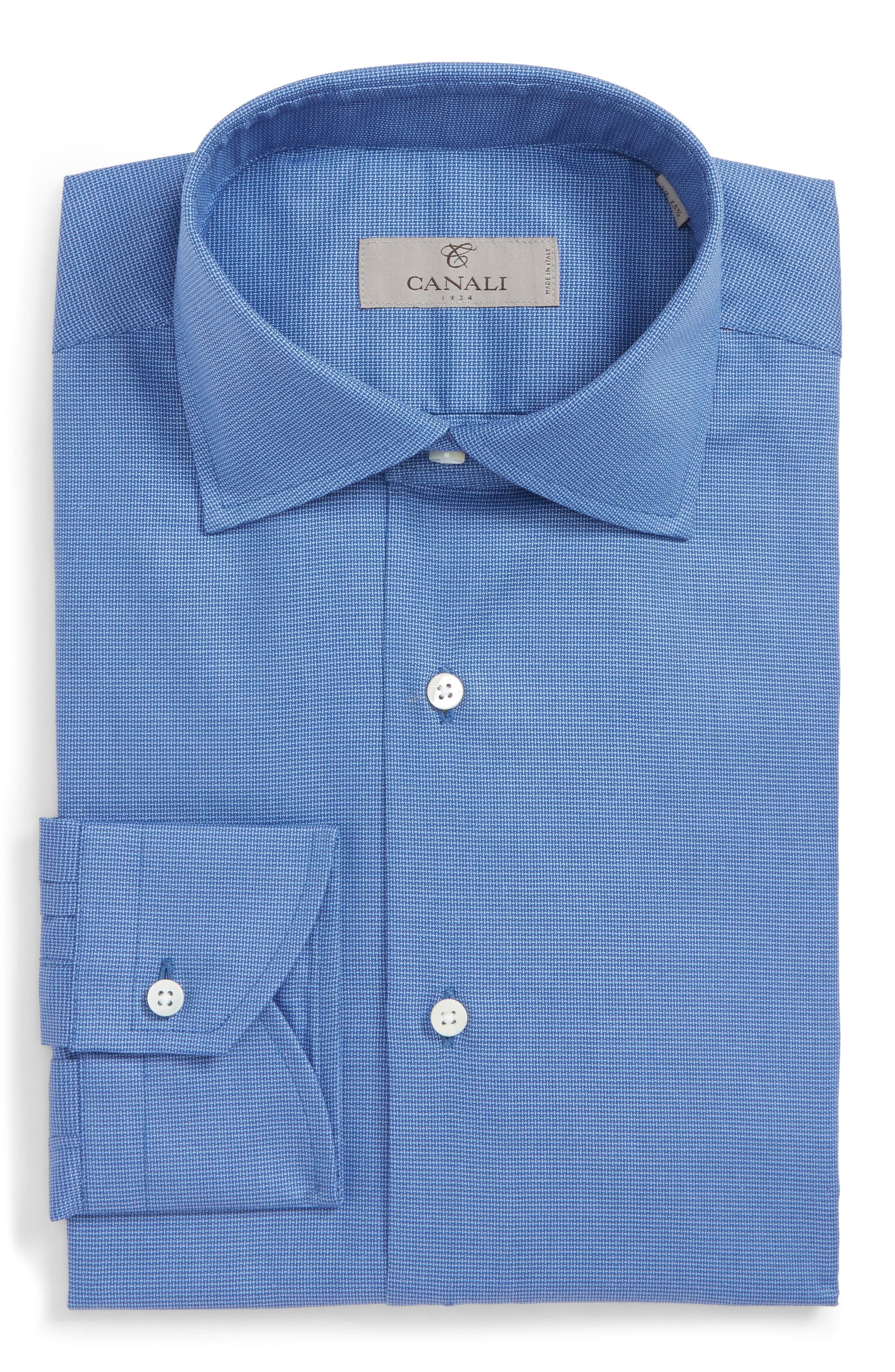 Regular Fit Dress Shirt,                             Alternate thumbnail 6, color,                             Dark Blue