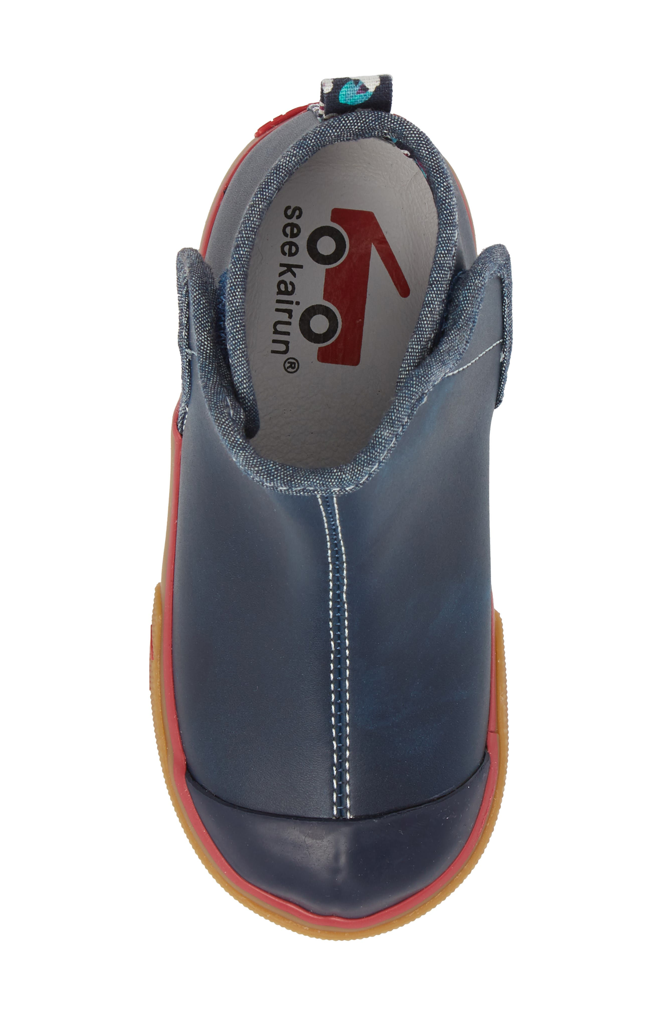 Mia Boot,                             Alternate thumbnail 6, color,                             Navy Leather