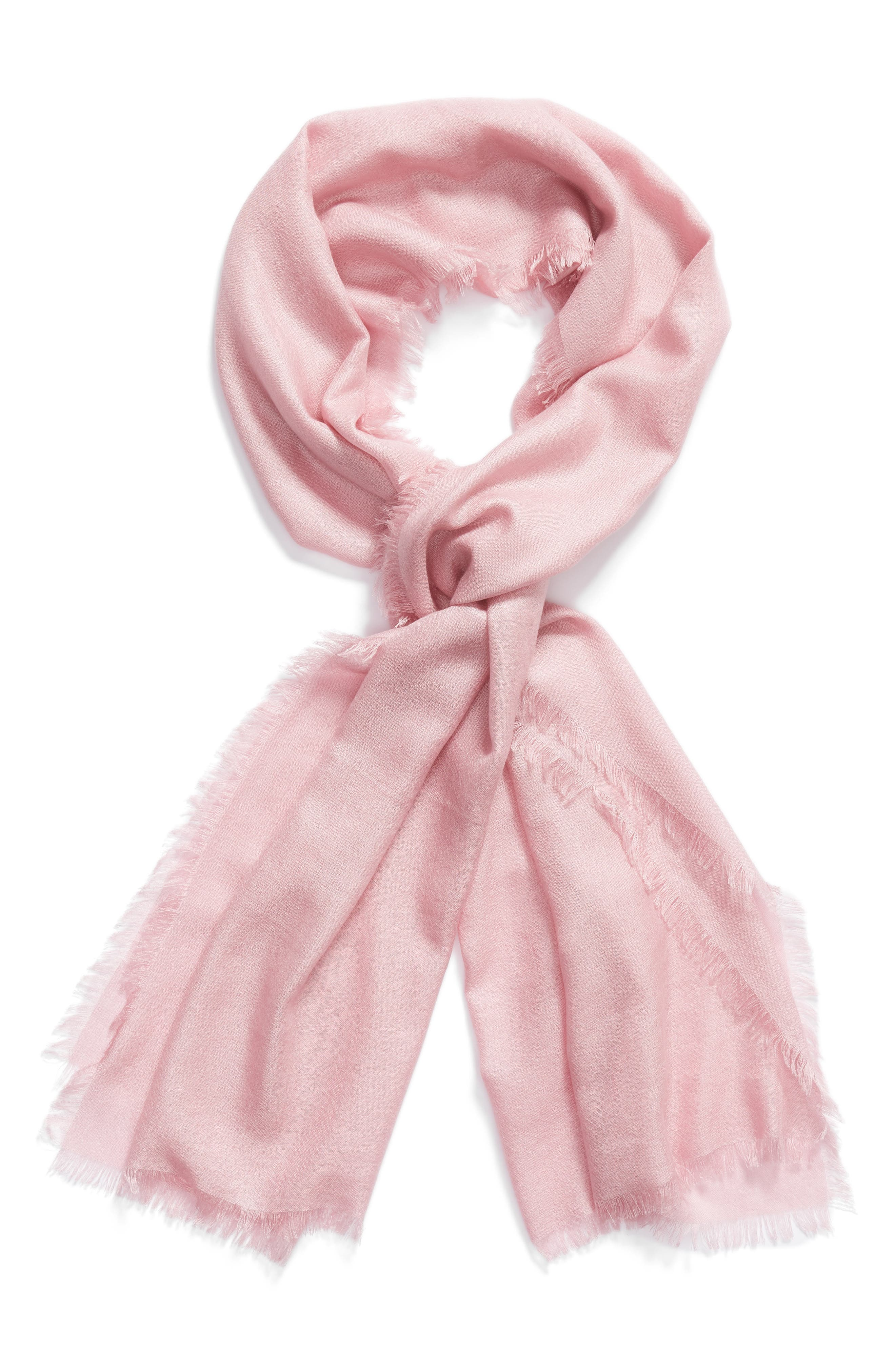Cashmere & Silk Wrap,                             Alternate thumbnail 2, color,                             Pink Carnation