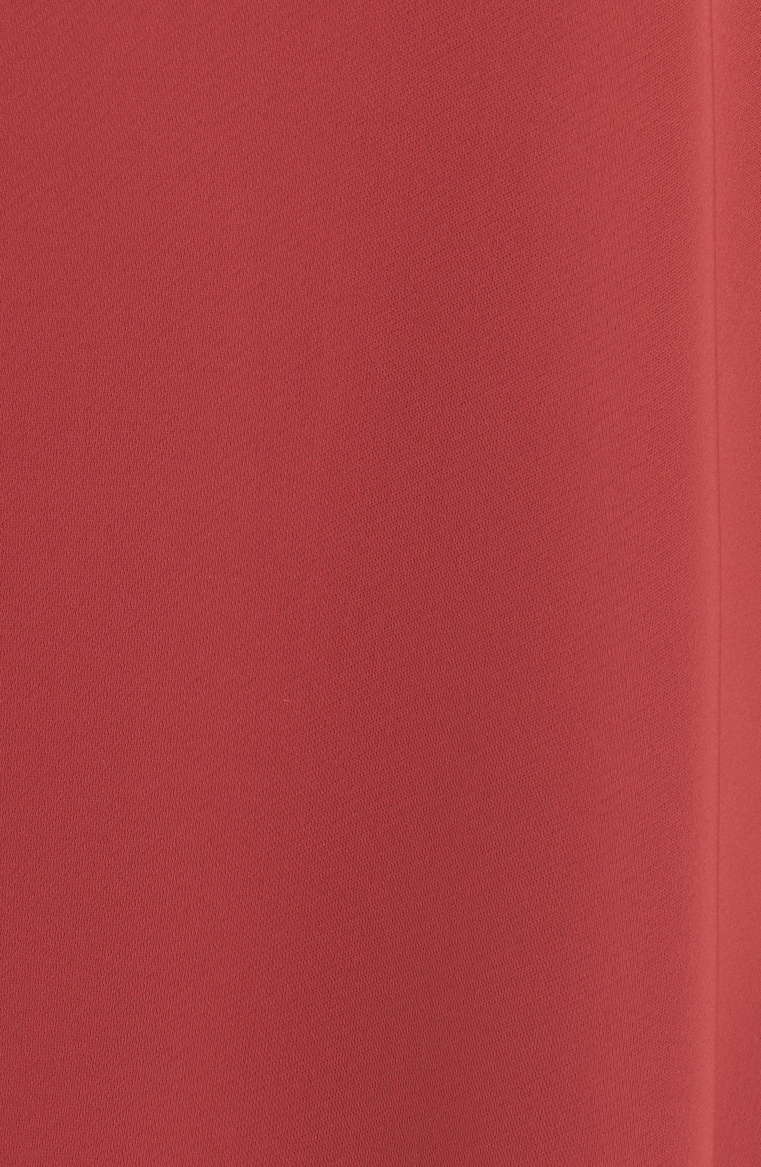 Majestic Matte Satin Blouse,                             Alternate thumbnail 3, color,                             Tamarind