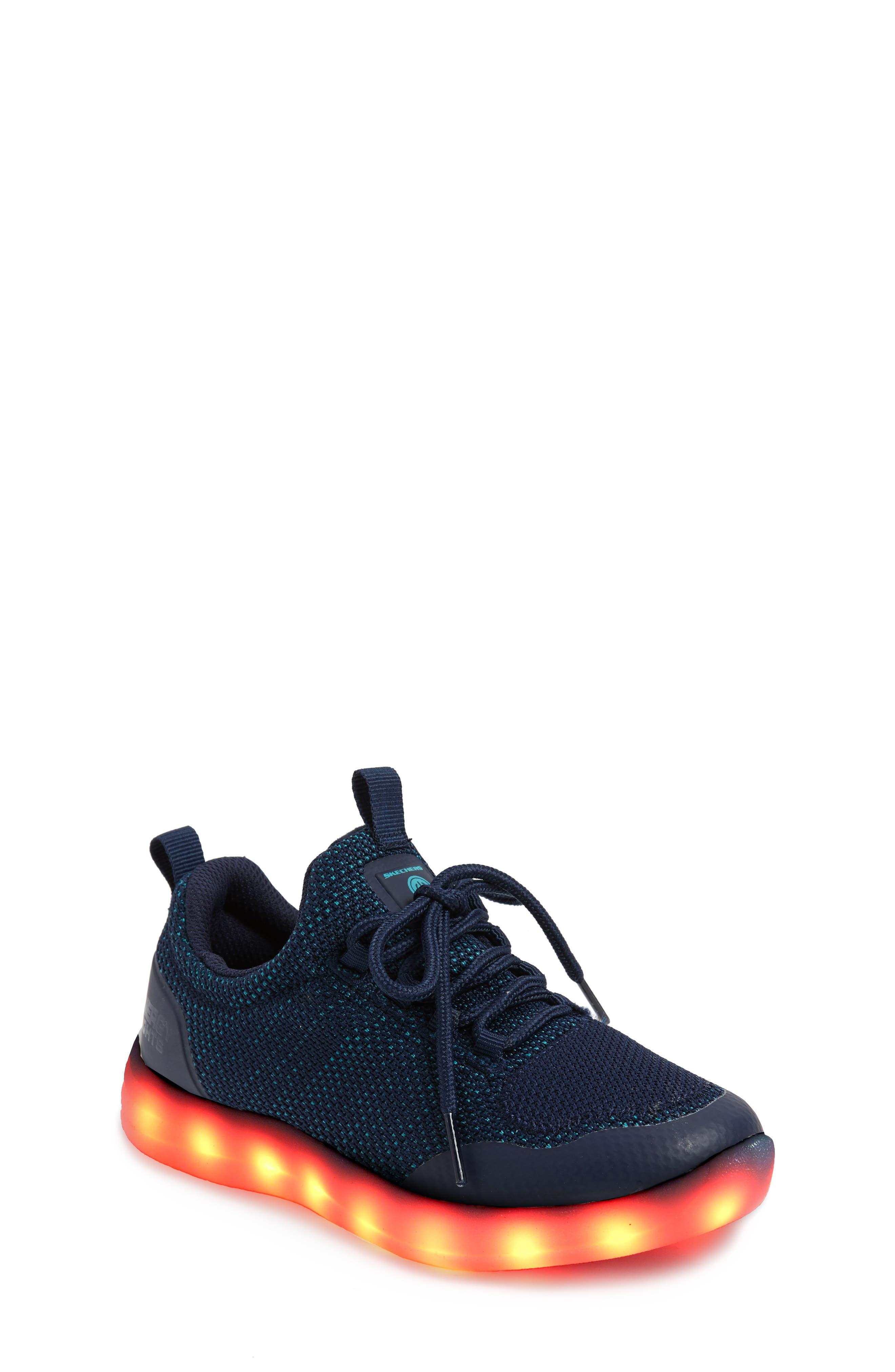 Energy Lights Street Sneaker,                             Alternate thumbnail 3, color,                             Navy