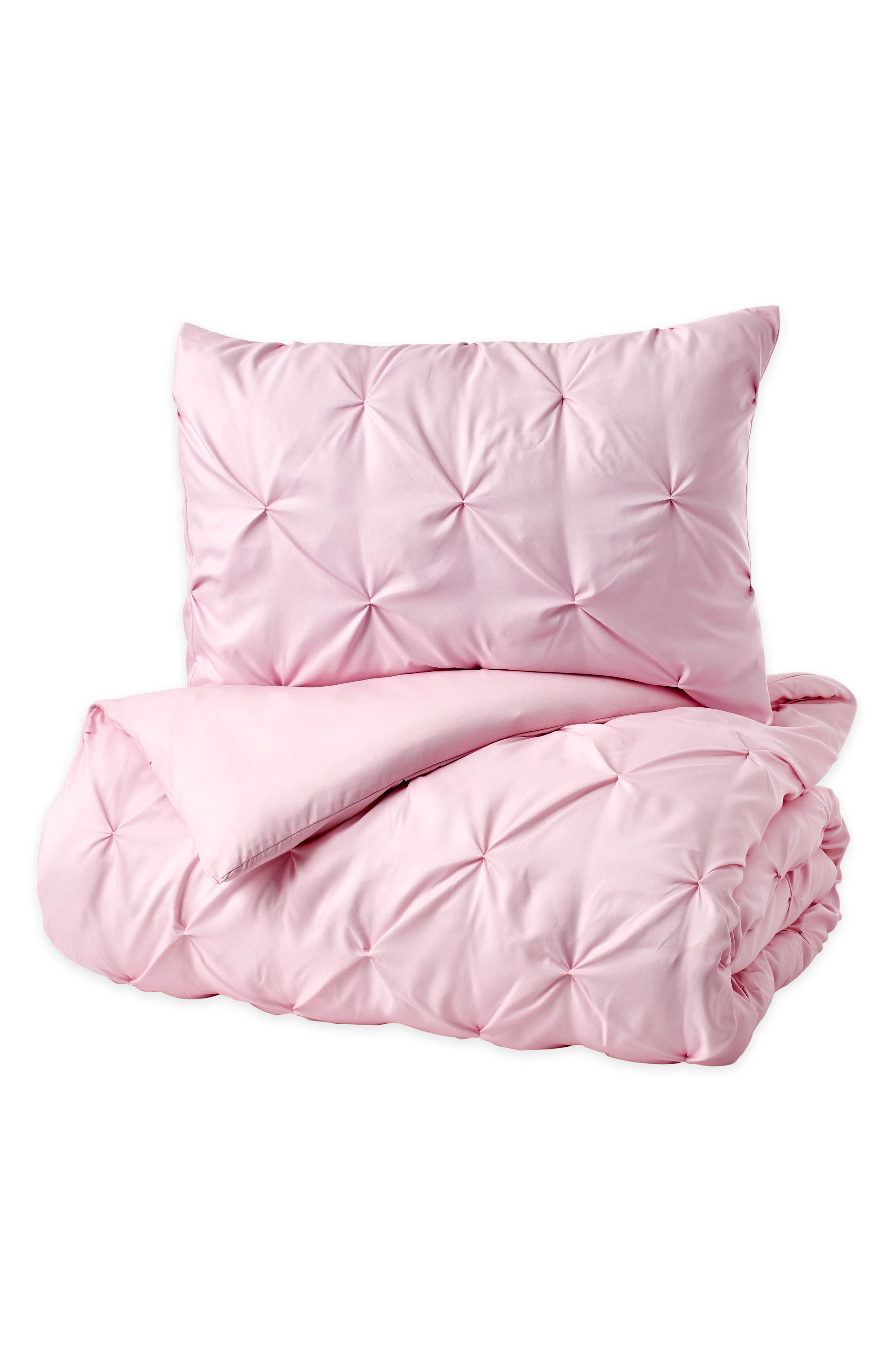 Duvet & Sham Set,                             Alternate thumbnail 5, color,                             Pink