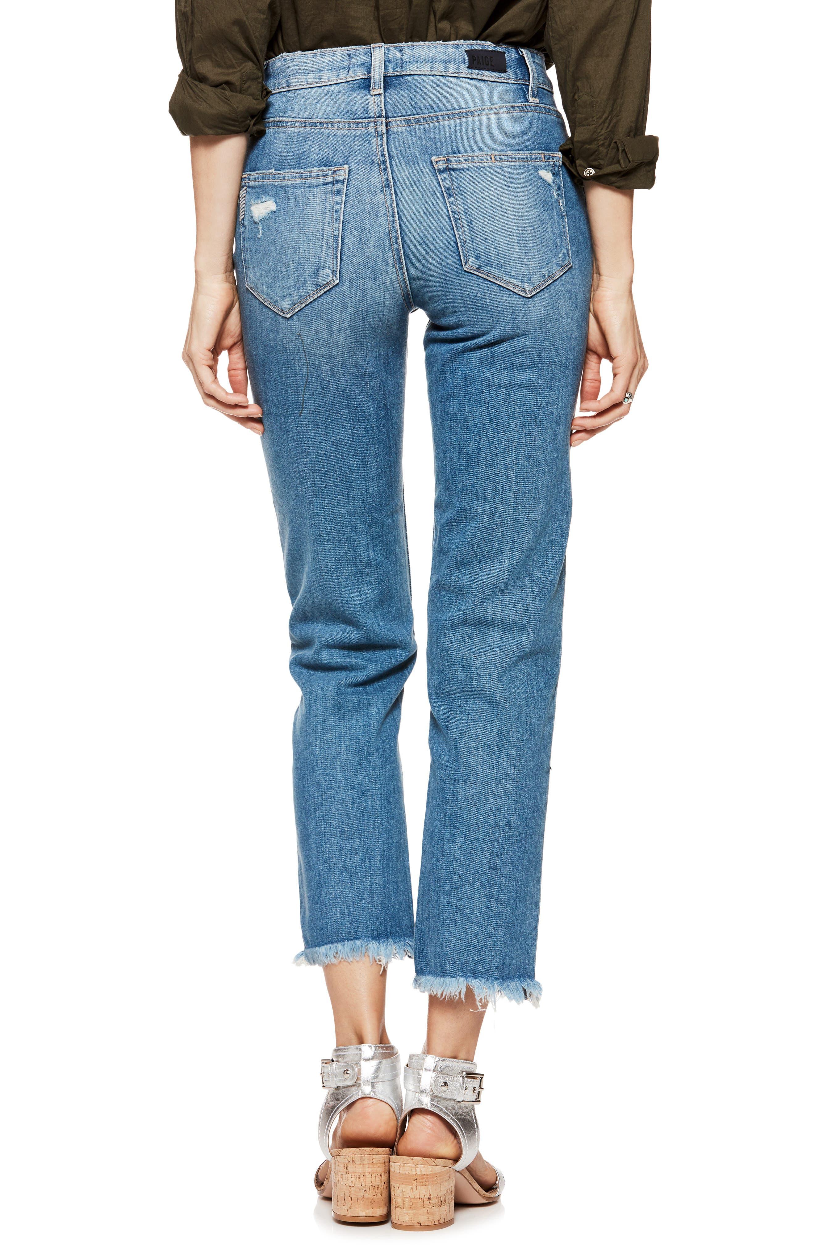Sarah High Waist Straight Leg Jeans,                             Alternate thumbnail 2, color,                             Venice