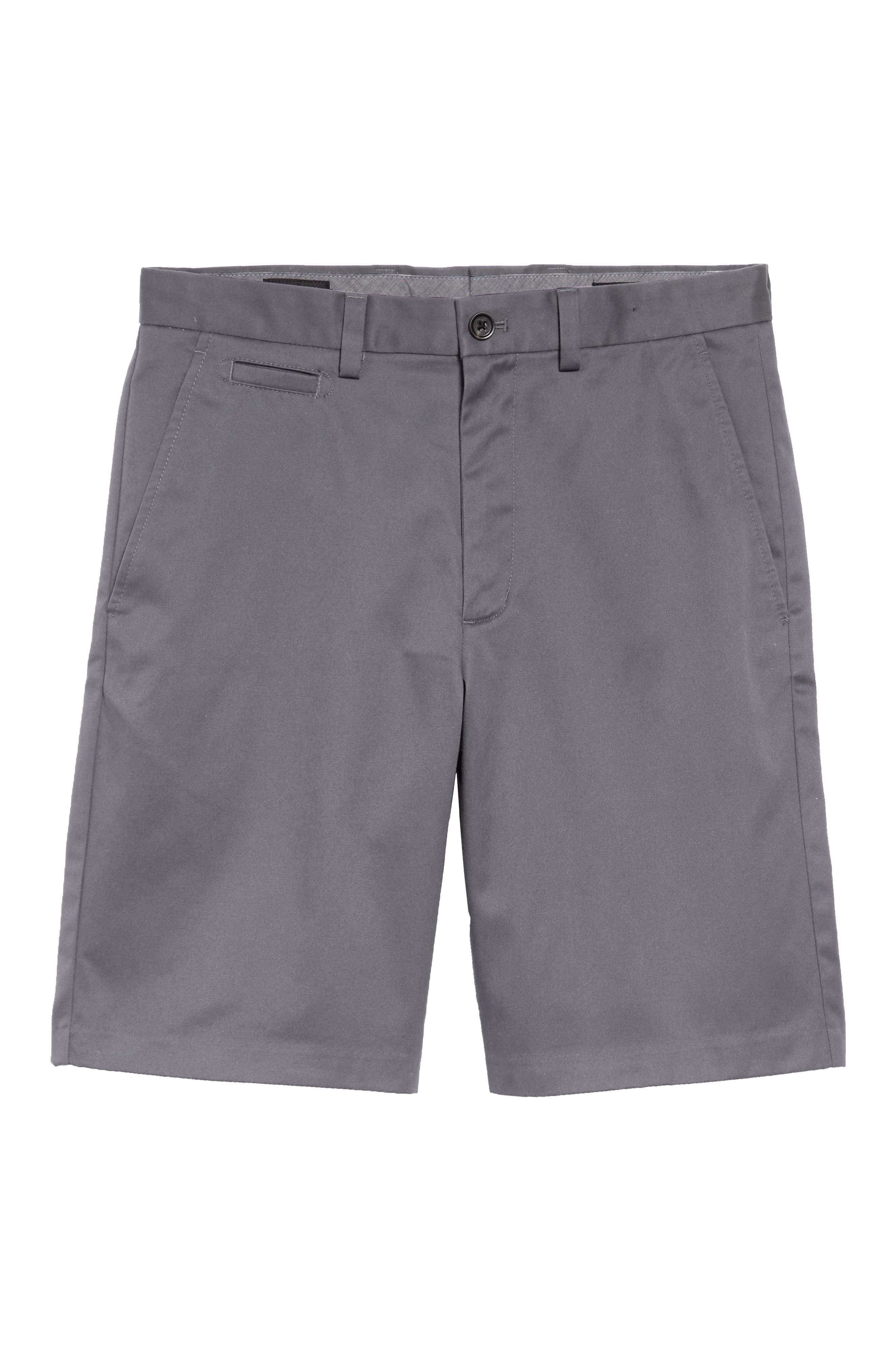 Smartcare<sup>™</sup> Flat Front Shorts,                             Alternate thumbnail 6, color,                             Grey Tornado