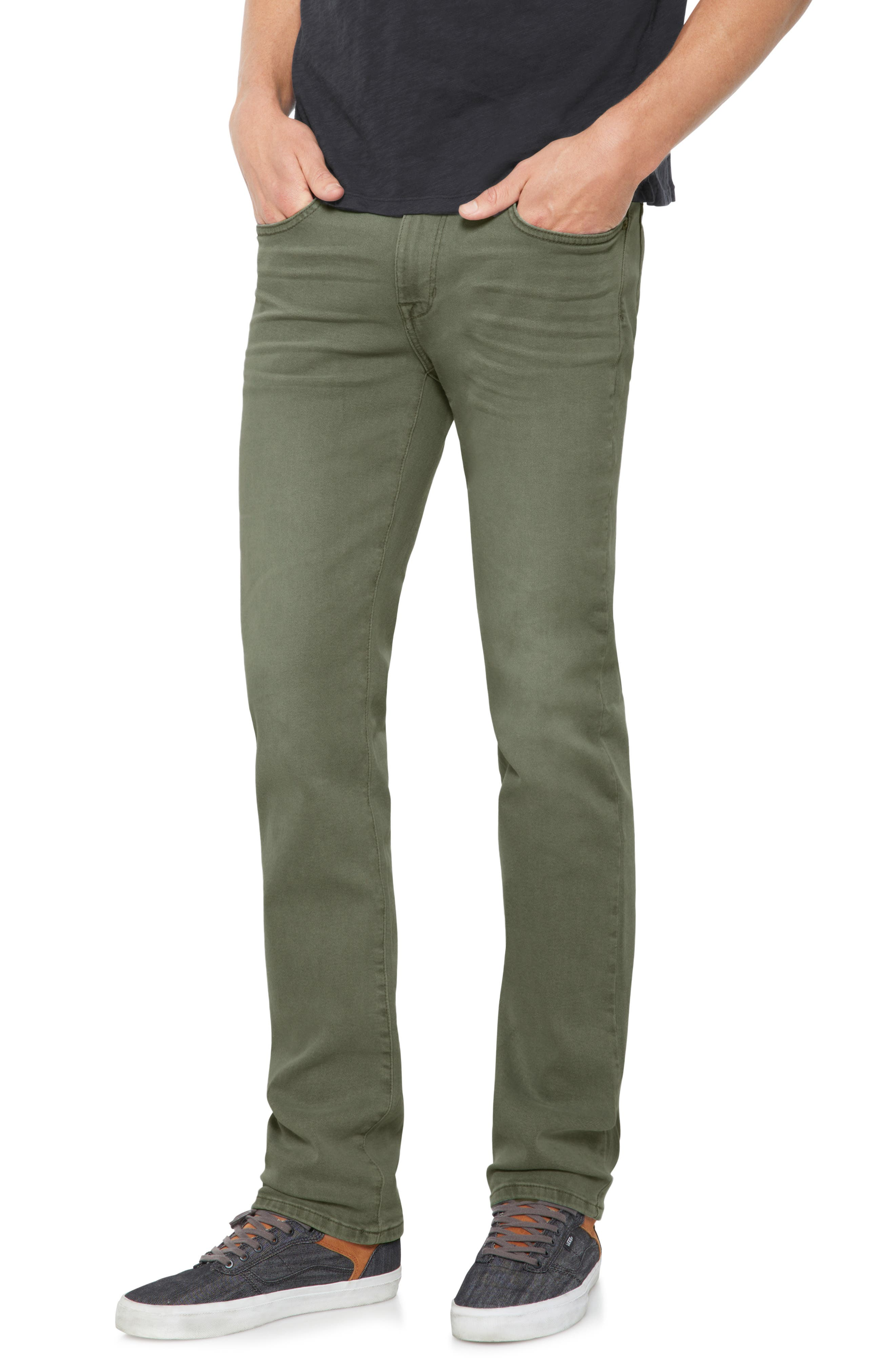 Brixton Slim Straight Leg Jeans,                         Main,                         color, Olive Tree