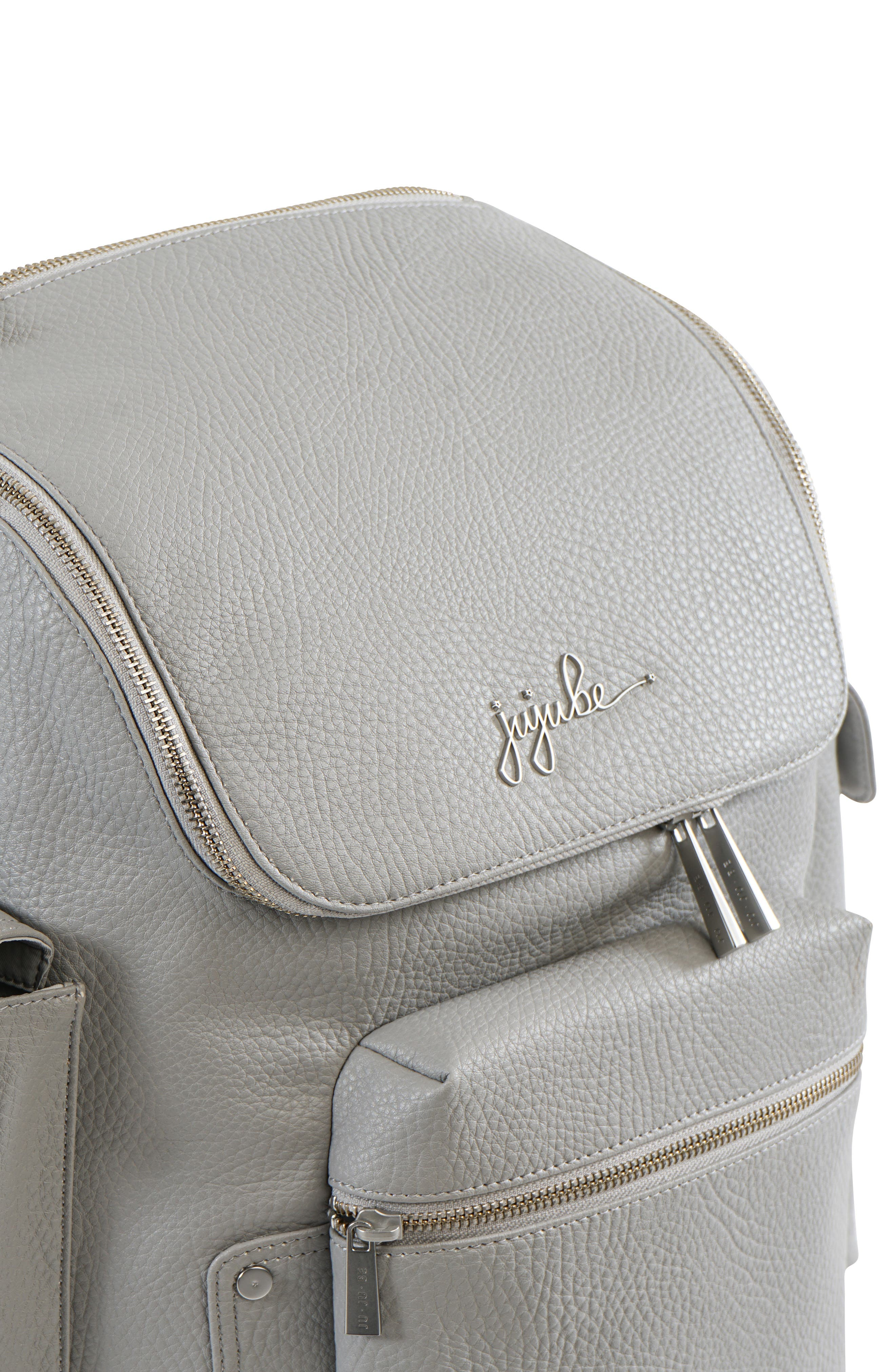 Ever Collection Forever Faux Leather Diaper Backpack,                             Alternate thumbnail 5, color,                             Stone