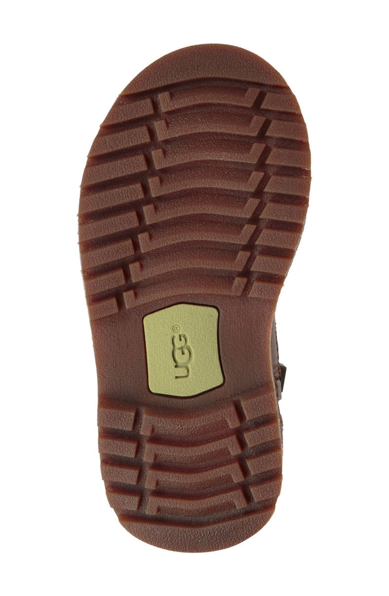 Callum Water Resistant Chelsea Boot,                             Alternate thumbnail 5, color,                             Chocolate Brown