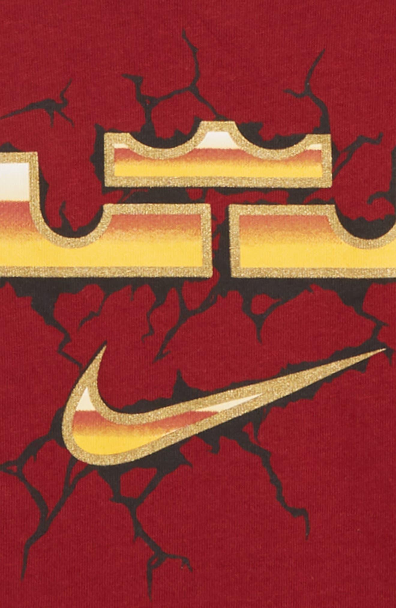 LeBron Dry T-Shirt,                             Alternate thumbnail 2, color,                             Team Red