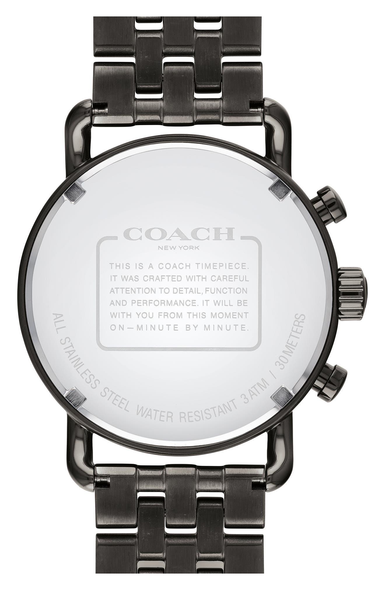 Delancey Sport Chronograph Bracelet Watch, 42mm,                             Alternate thumbnail 2, color,                             Gunmetal