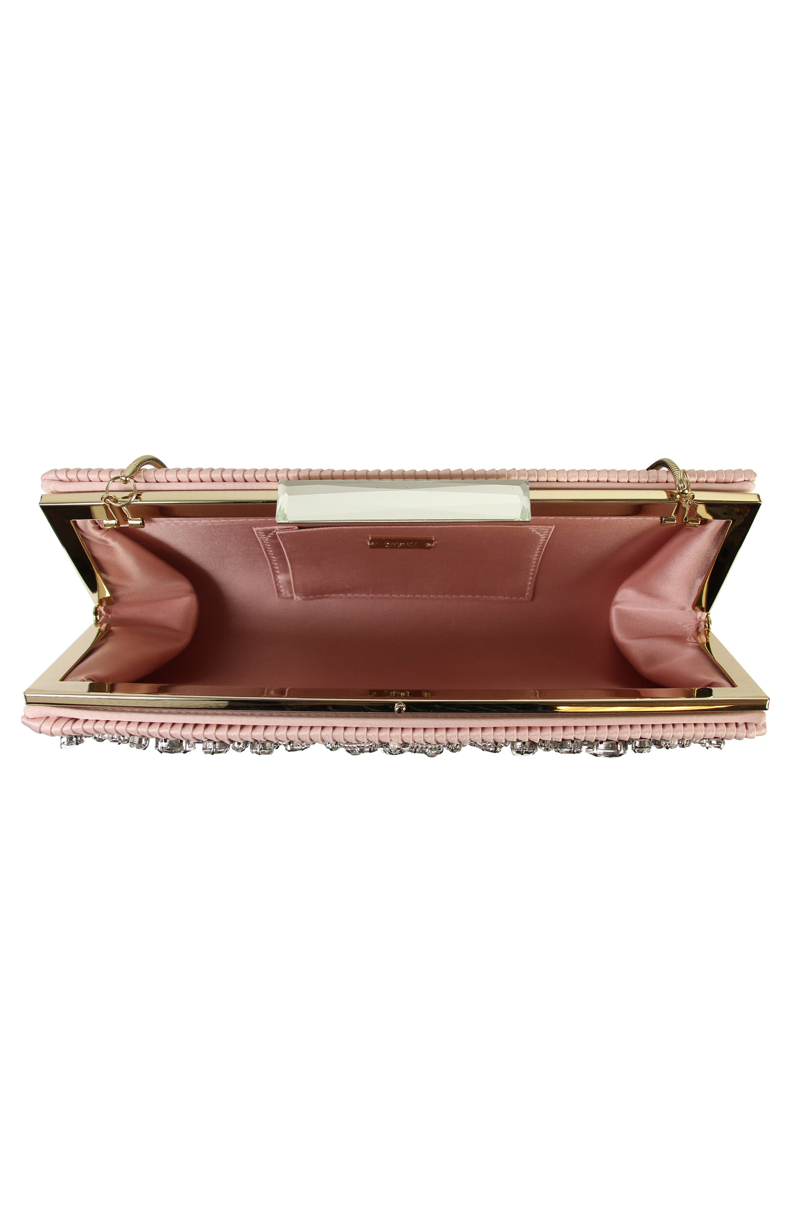 Gale Embellished Clutch,                             Alternate thumbnail 4, color,                             Blossom Pink